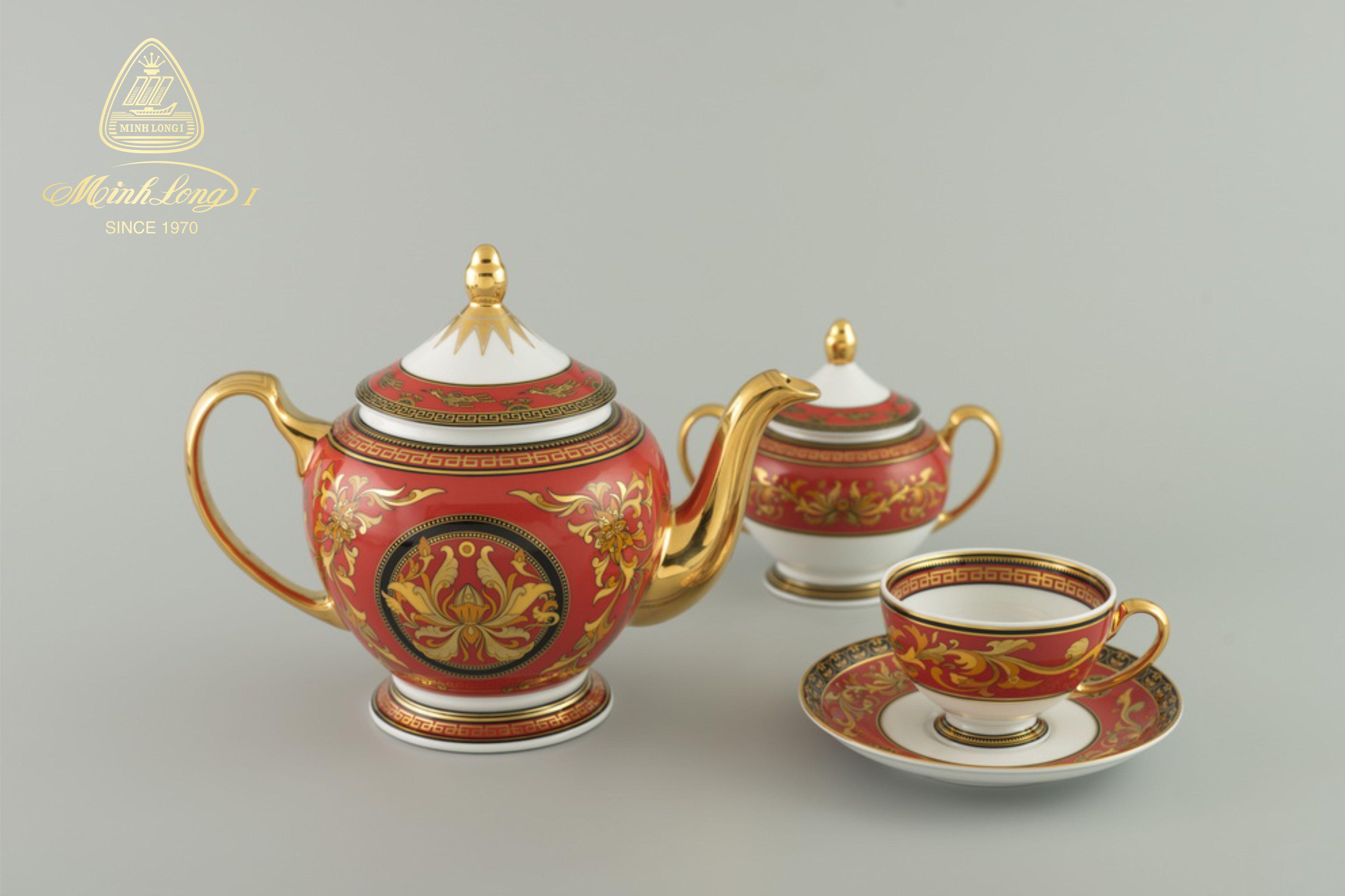 Bộ trà 1.3L Hoàng Cung Quốc Sắc 01134006803 Minh Long