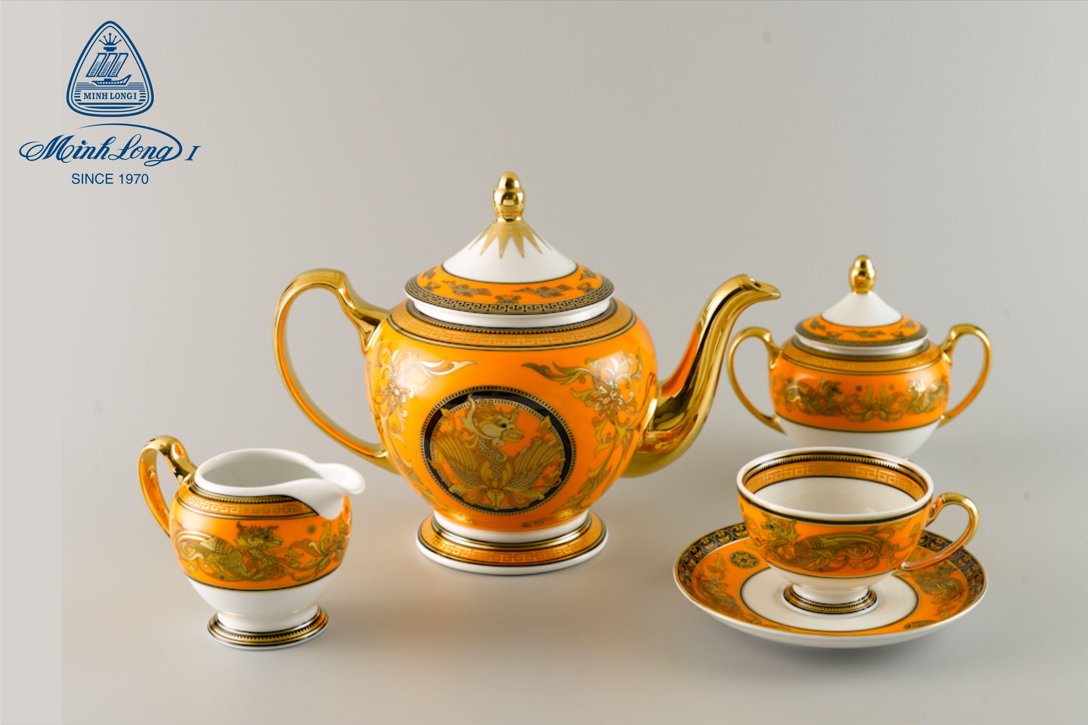 Bộ trà 1,3L Hoàng Cung Hoàng Bào Sen 01134013703 Minh Long
