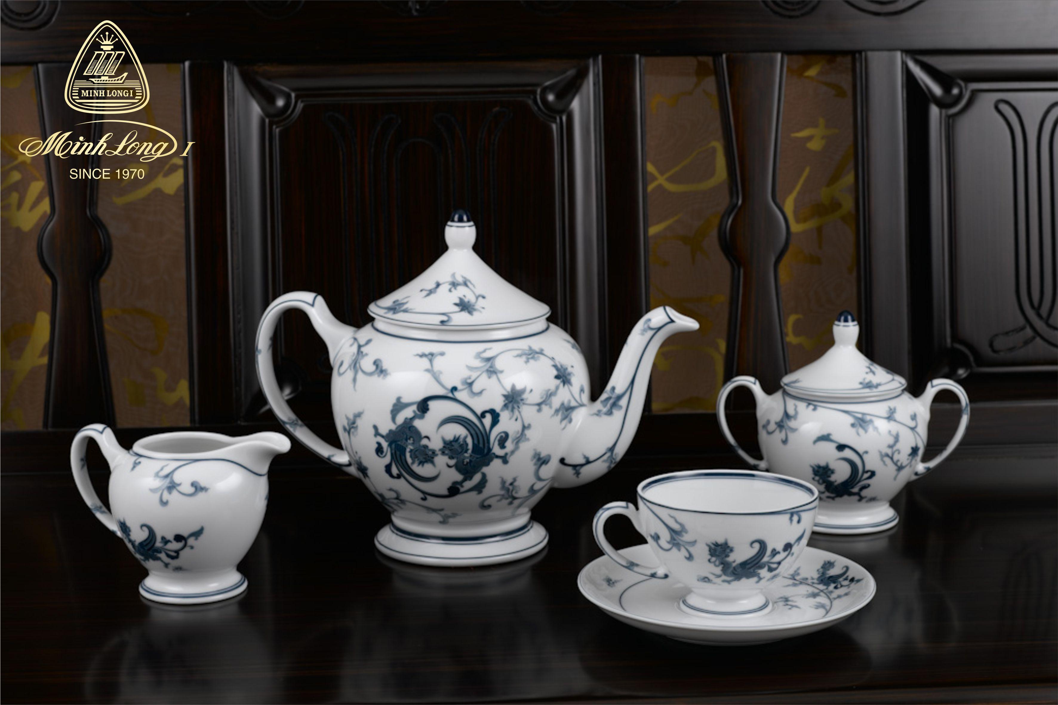 Bộ trà 1.3L Hoàng Cung Lạc Hồng 01134020803 Minh Long