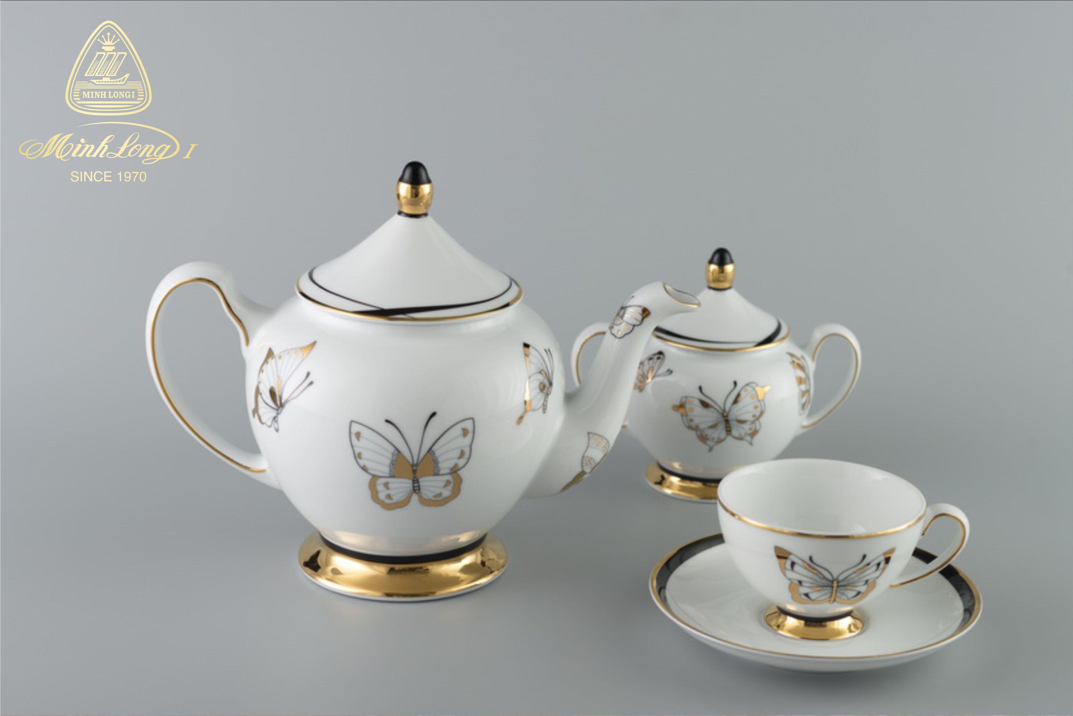 Bộ trà 1,3L Hoàng Cung Hoàng Điệp 01134026803 Minh Long