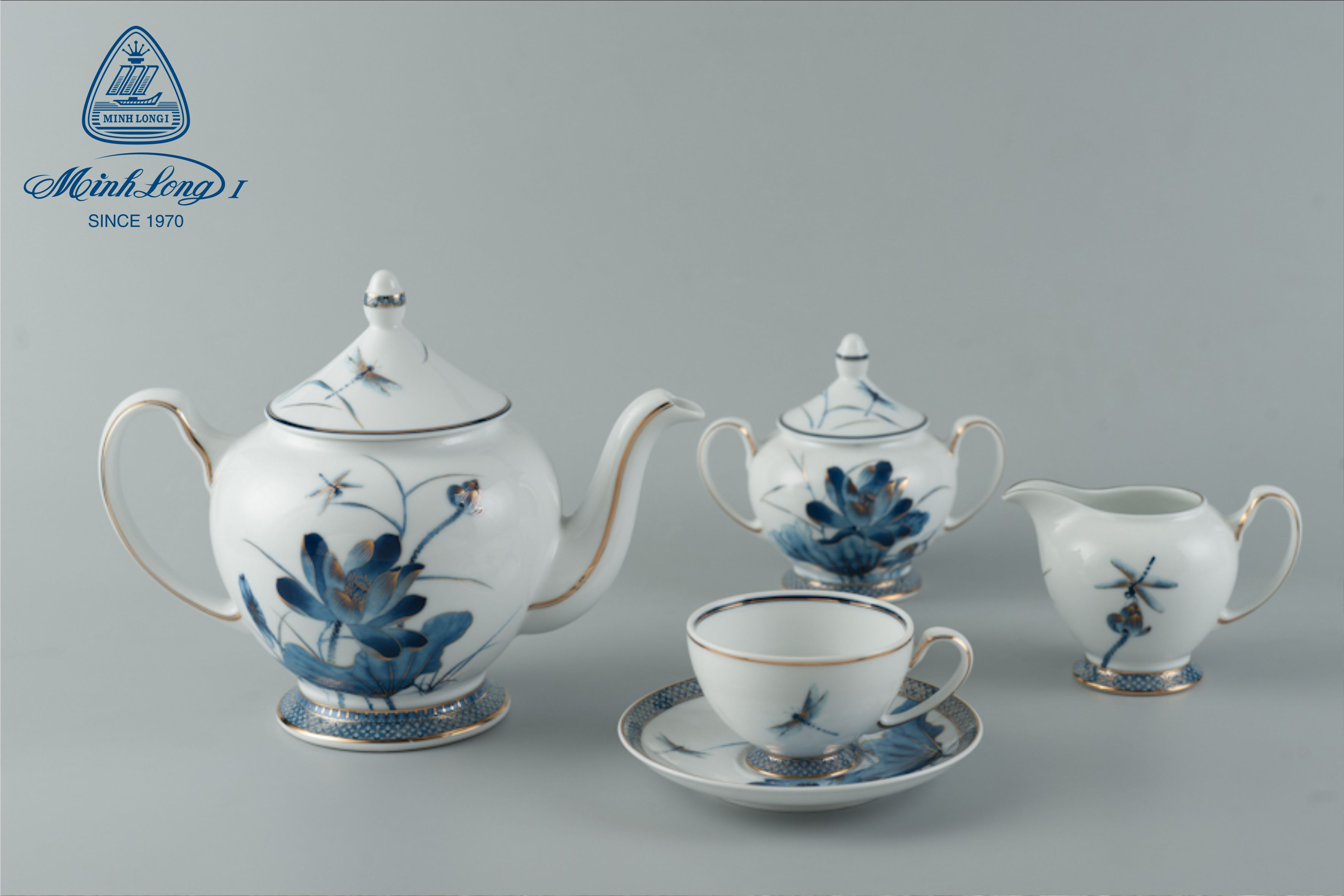 Bộ trà 1.3L Hoàng Cung Sen Vàng 01134034503 Minh Long