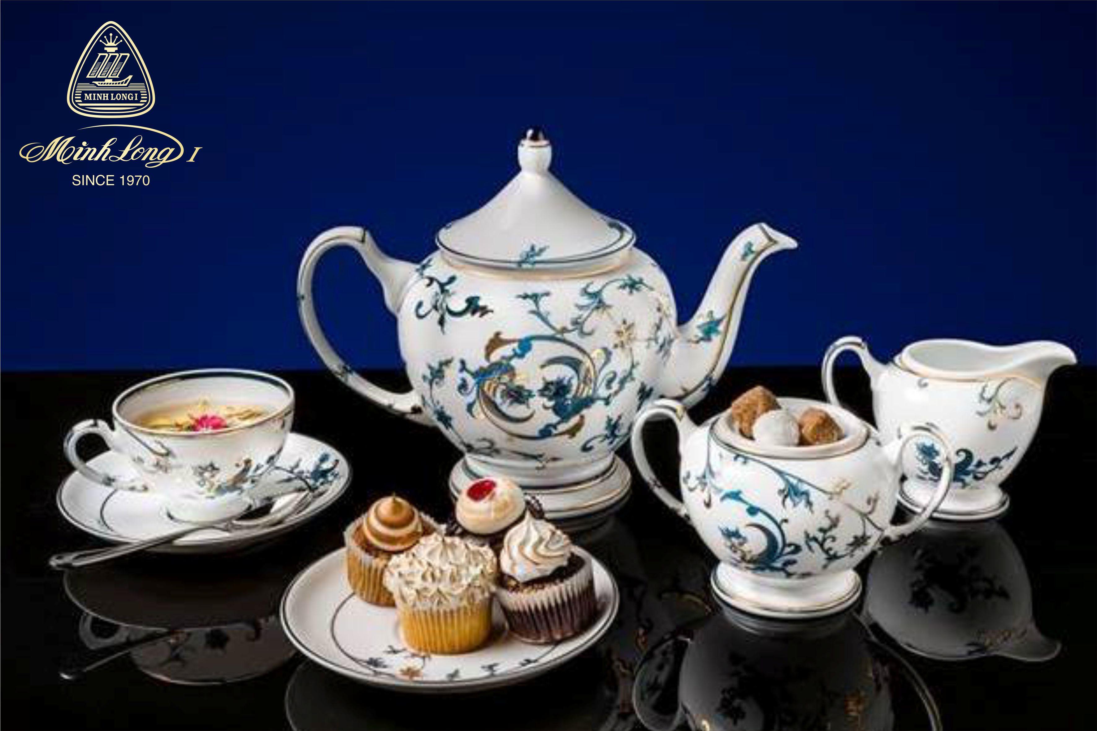 Bộ trà 1.3L Hoàng CungLạc Hồng vàng 01134037403 Minh Long