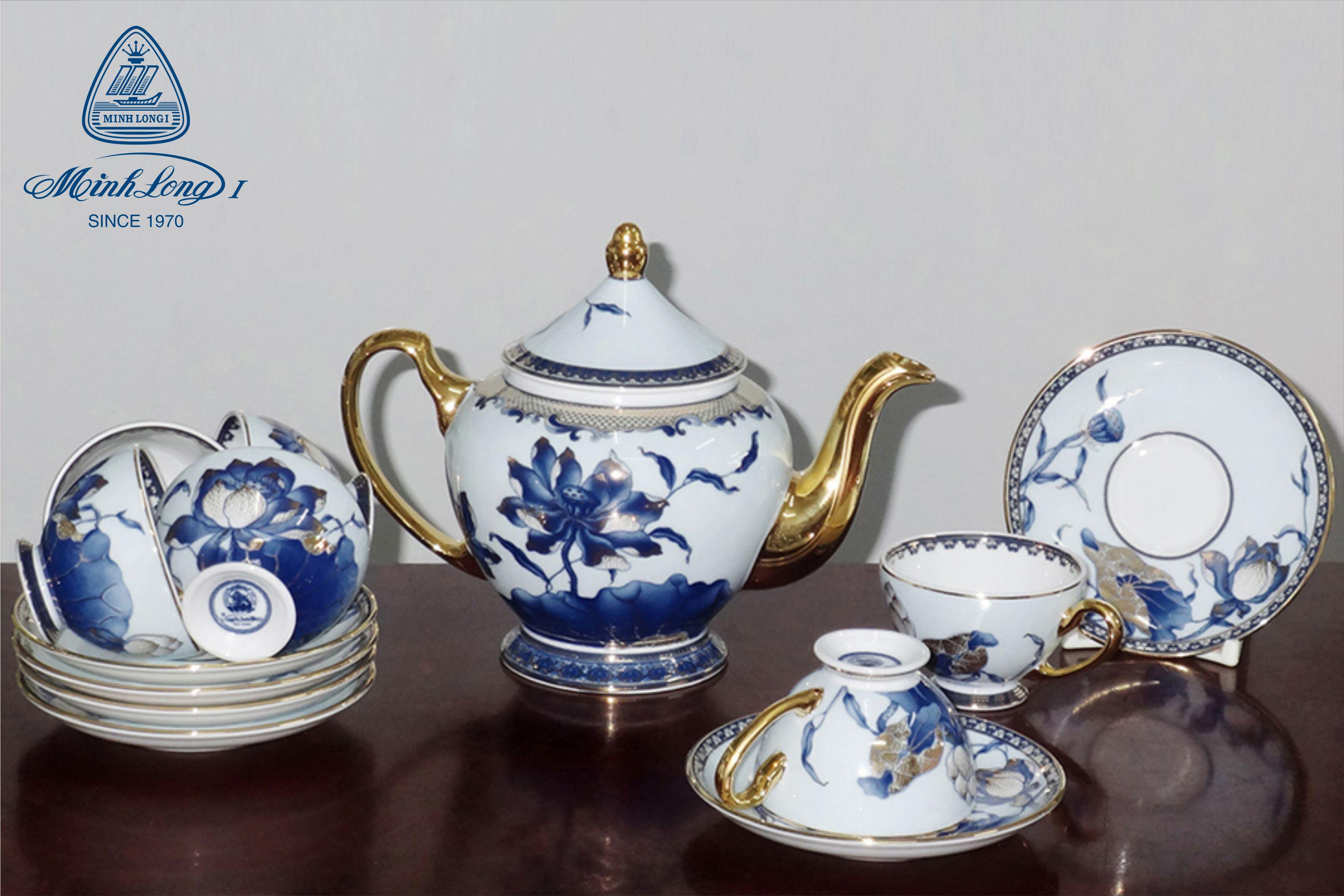 Bộ trà 1.3L Hoàng Cung Sen Ngọc 01134045603 Minh Long