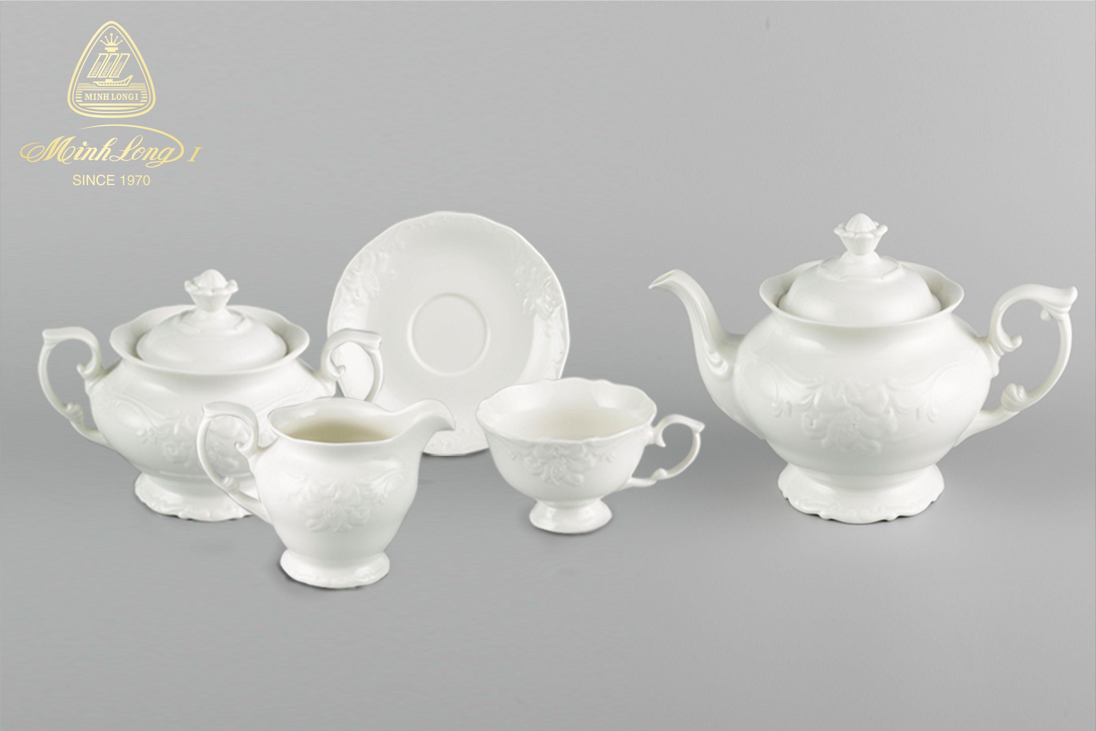 Bộ trà 1.3L Đài Các Trắng Ngà 01134600003 Minh Long