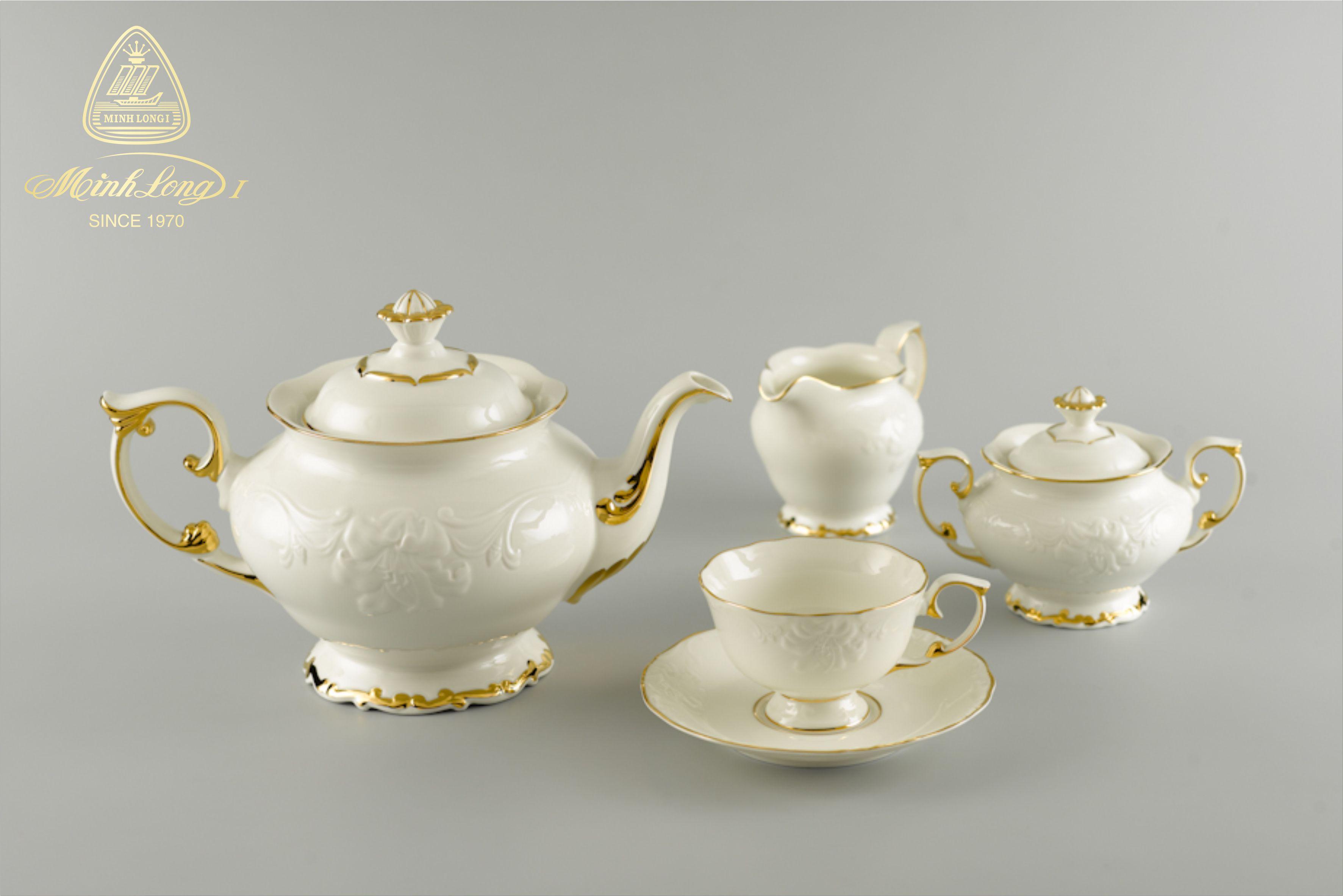 Bộ trà 1.3L Đài Các Chỉ Vàng 01134601403 Minh Long