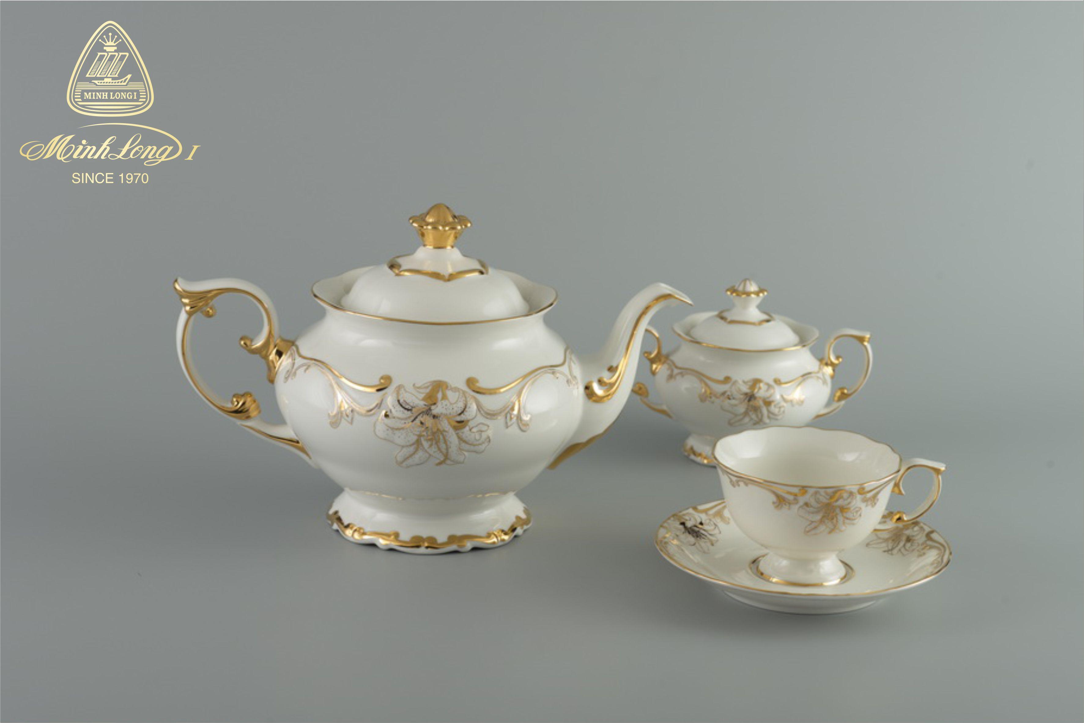 Bộ trà 1.3L Đài Các Trang Trí Hoa 01134624703 Minh Long
