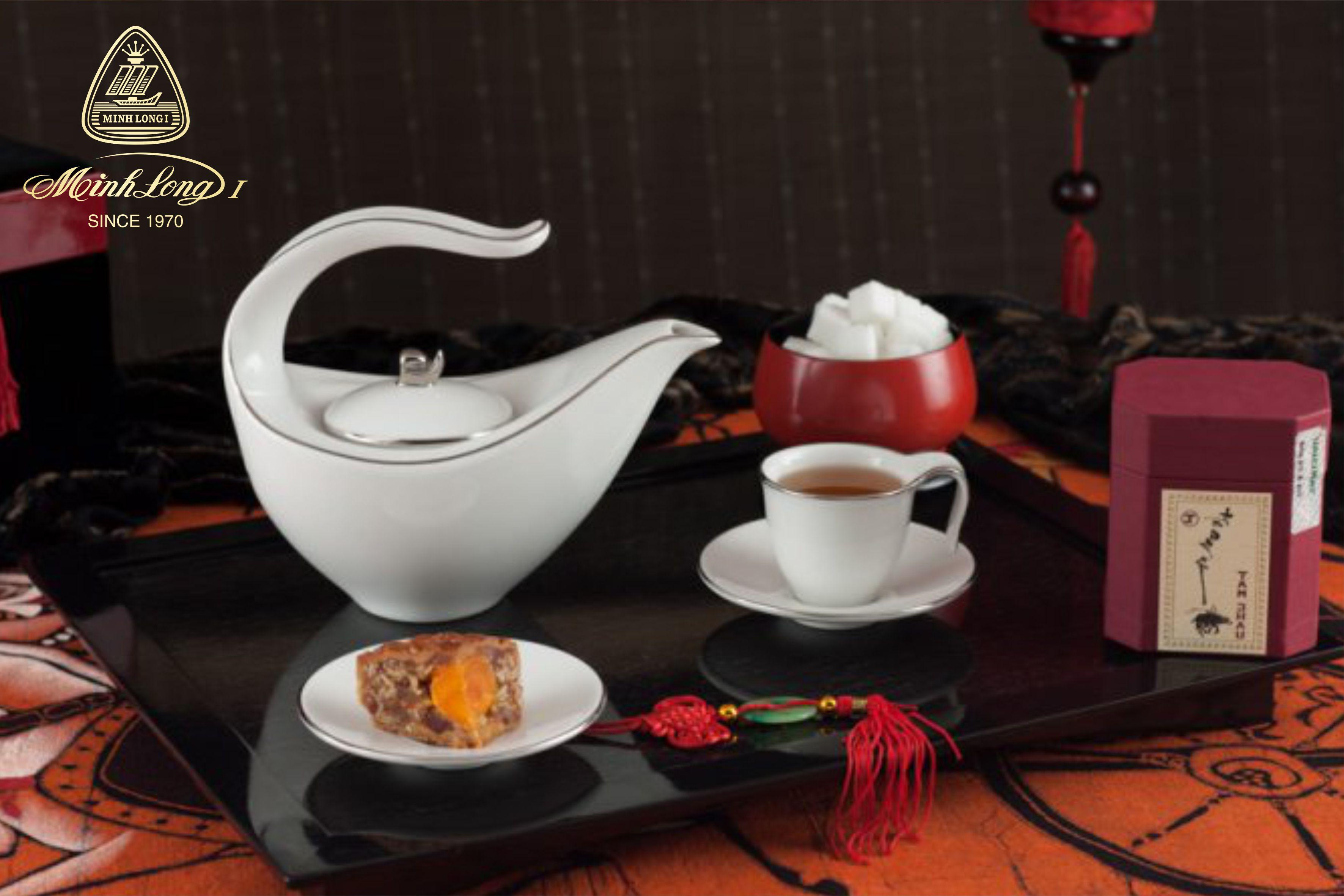 Bộ trà 0.45L Anh Vũ Chỉ Bạch Kim 01458004303 Minh Long