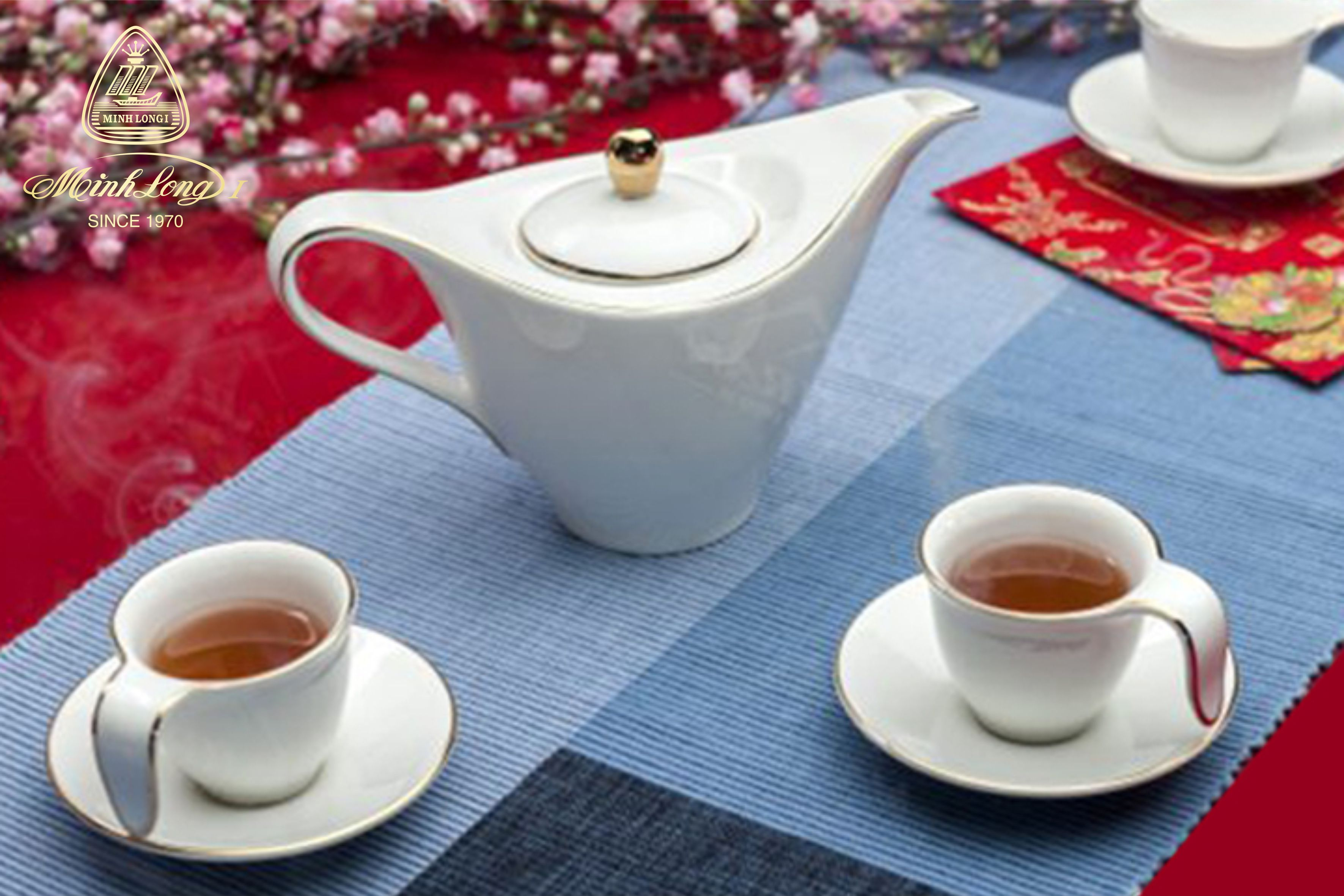 Bộ Cafe 0.45L Anh Vũ Chỉ Vàng 01459801403 Minh Long