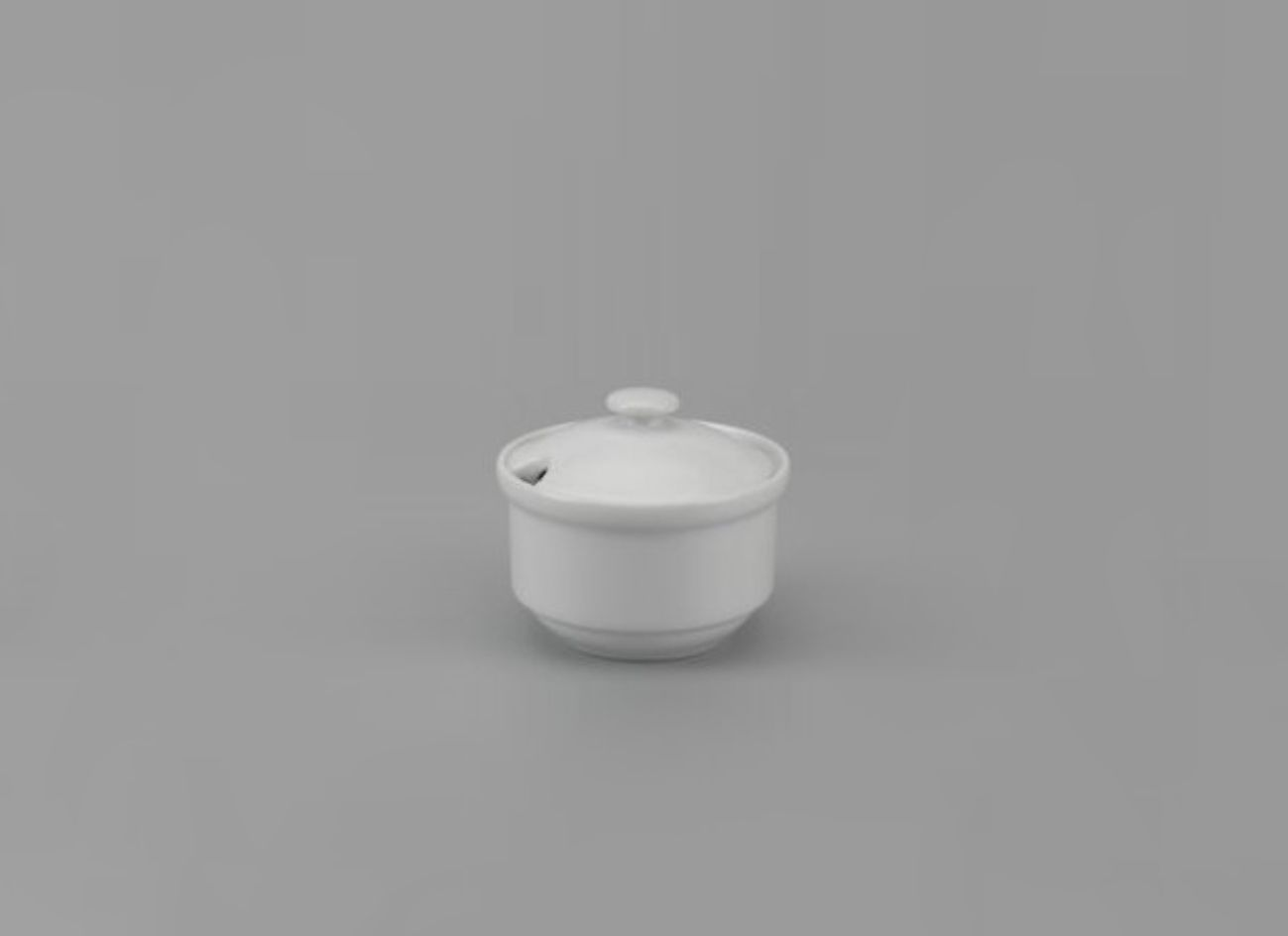 Chén đường 8cm + nắp Jas Lys Trắng Ngà 030897000