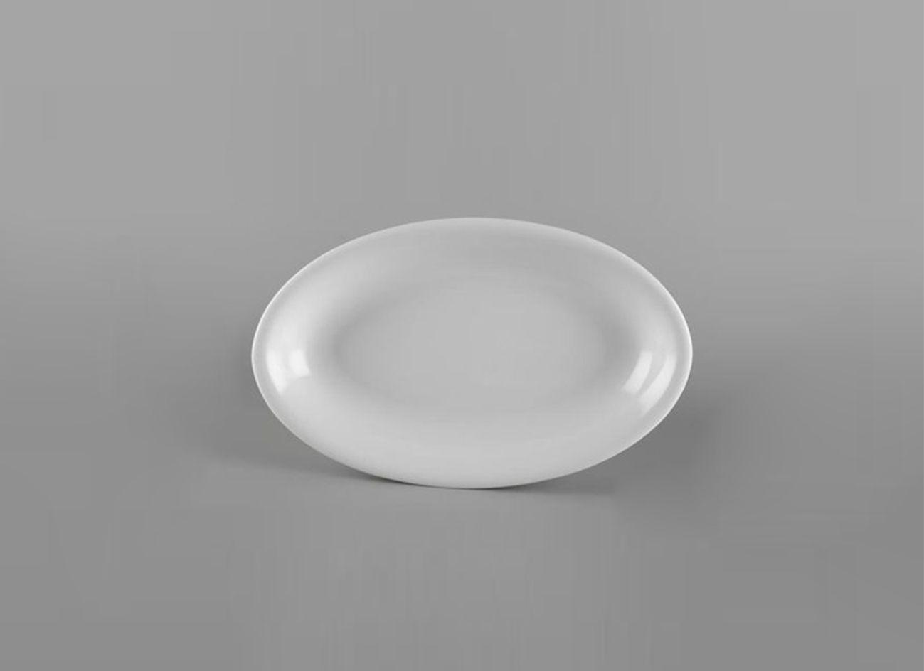 Dĩa oval ảo 21cm Daisy Lys Trắng Ngà 052126000