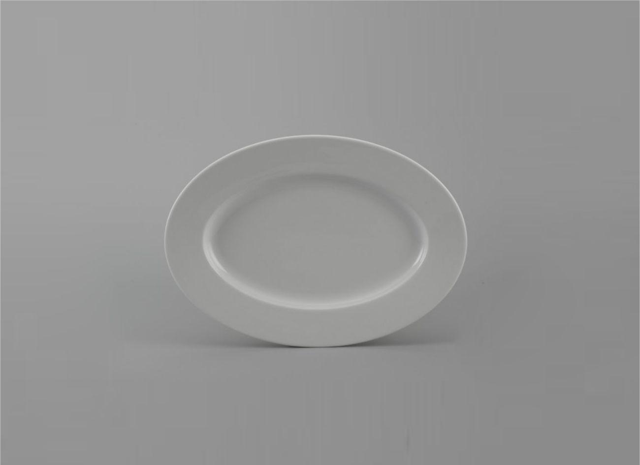 Dĩa oval 21cm Jas Lys Trắng Ngà 052129000