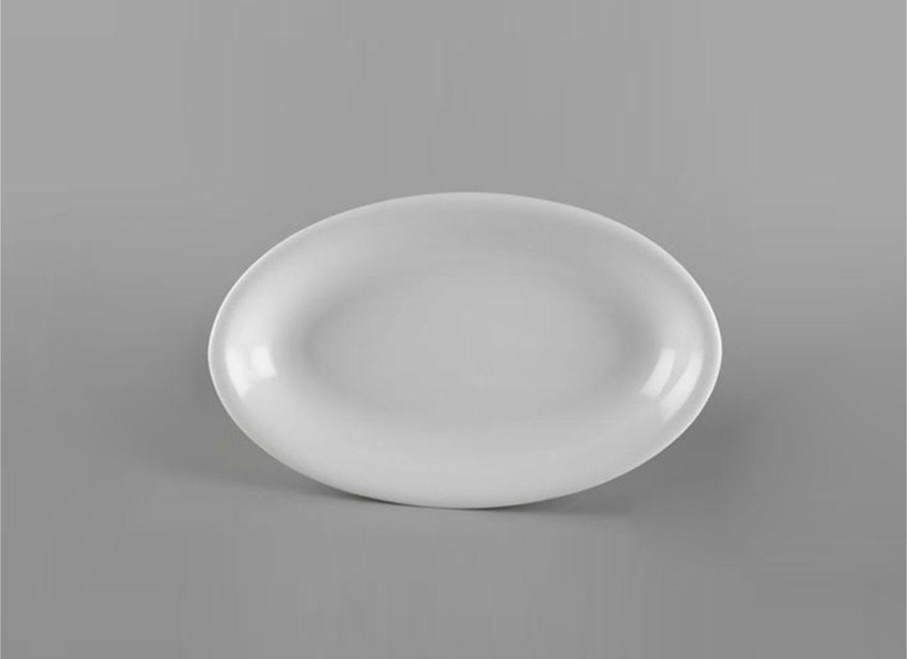 Dĩa oval ảo 25cm Daisy Lys Trắng Ngà 052526000