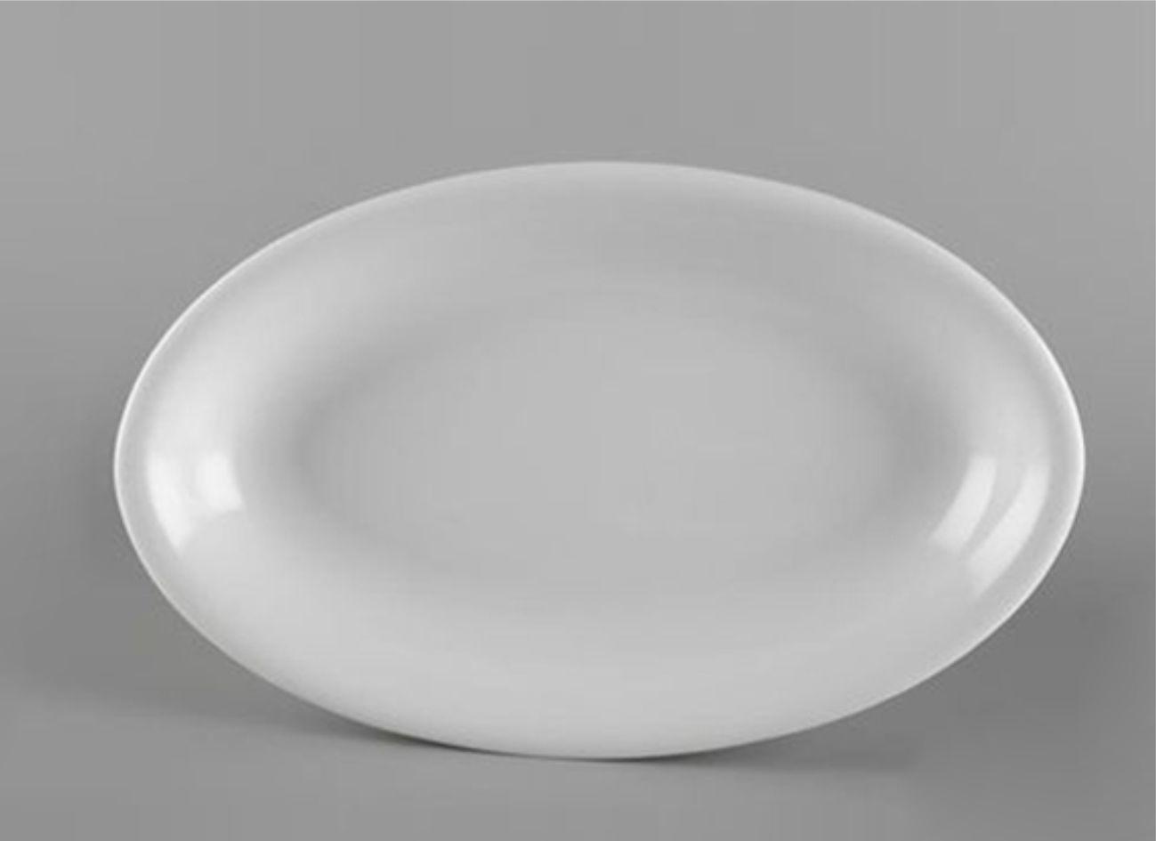 Dĩa oval ảo 37cm Daisy Lys Trắng Ngà 053726000