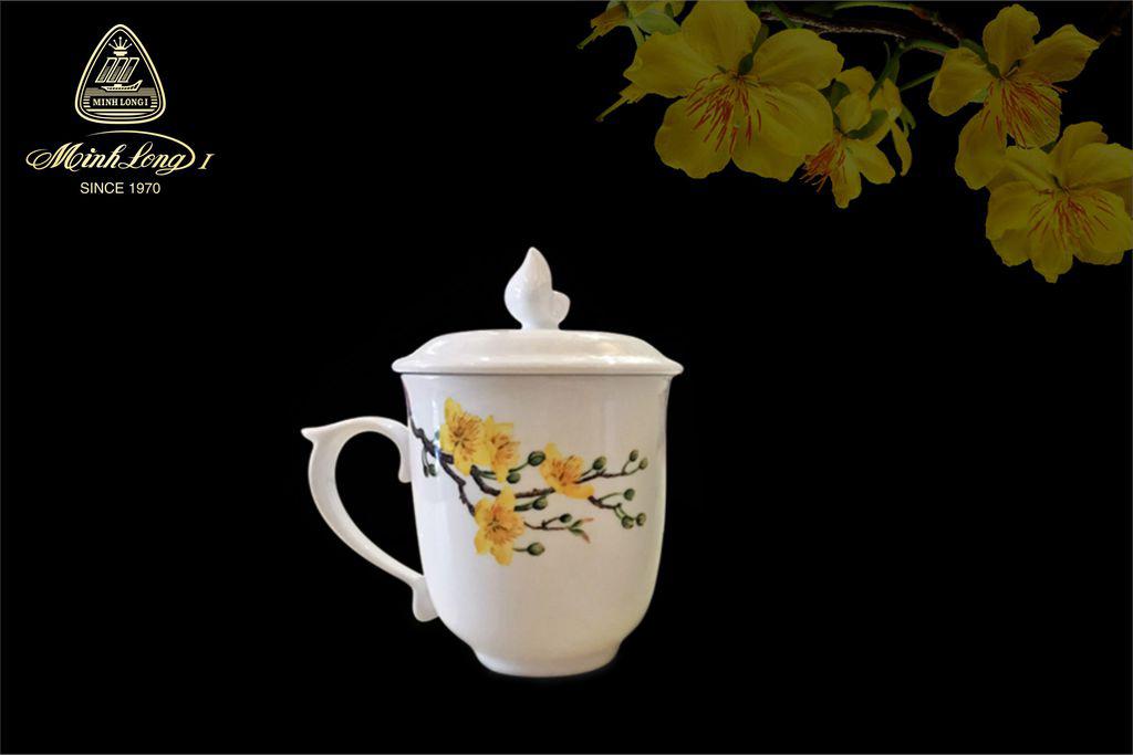 Ca trà 0.30L có nắp Mẫu Đơn Mai &LC3 153009398MD Minh Long