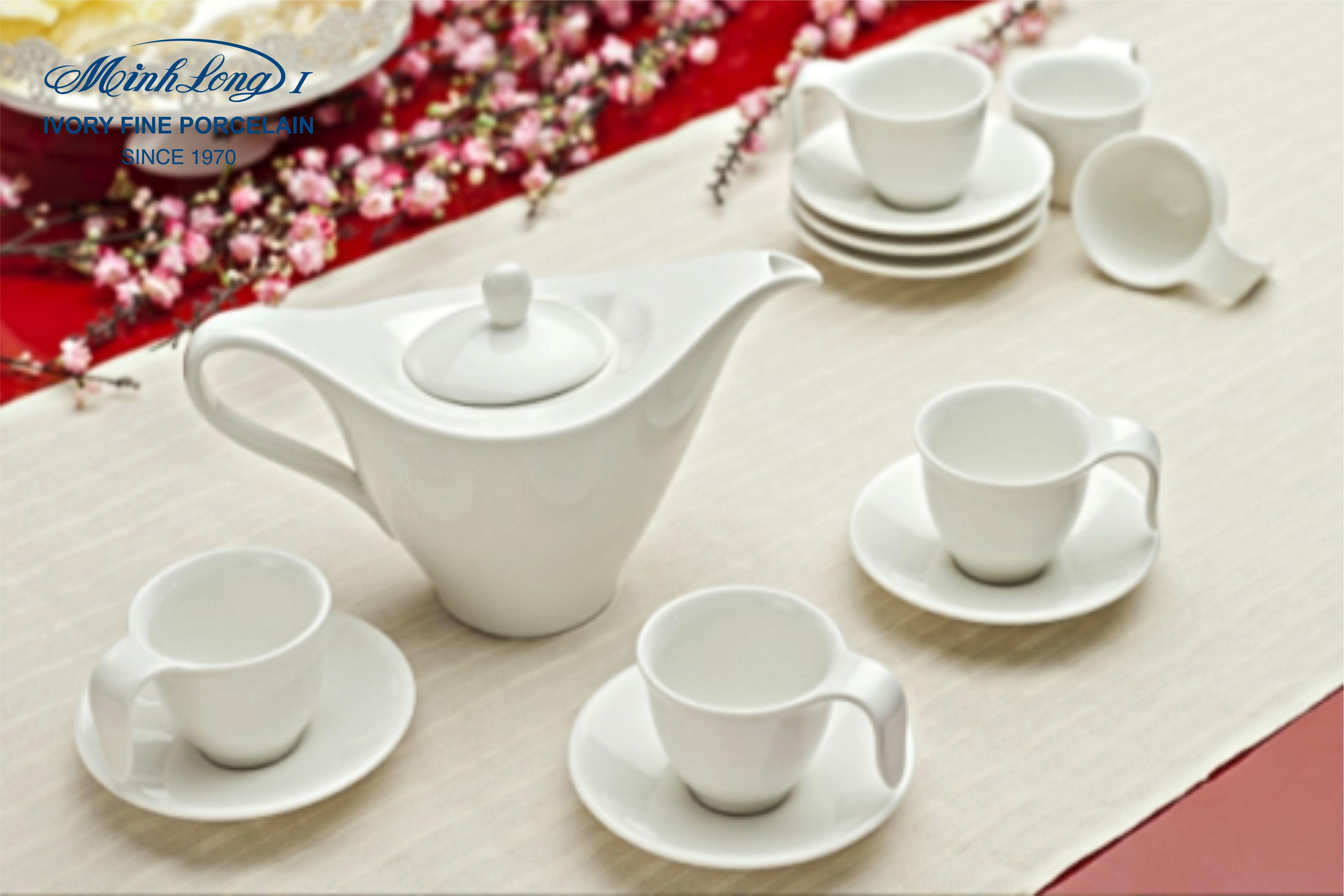 Bộ bình Cafe 0,45L Anh Vũ Trắng Ngà 01459800003 Minh Long