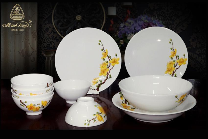 Bộ bàn ăn 10sp Daisy IFP Hoàng Mai 461028409 Minh Long