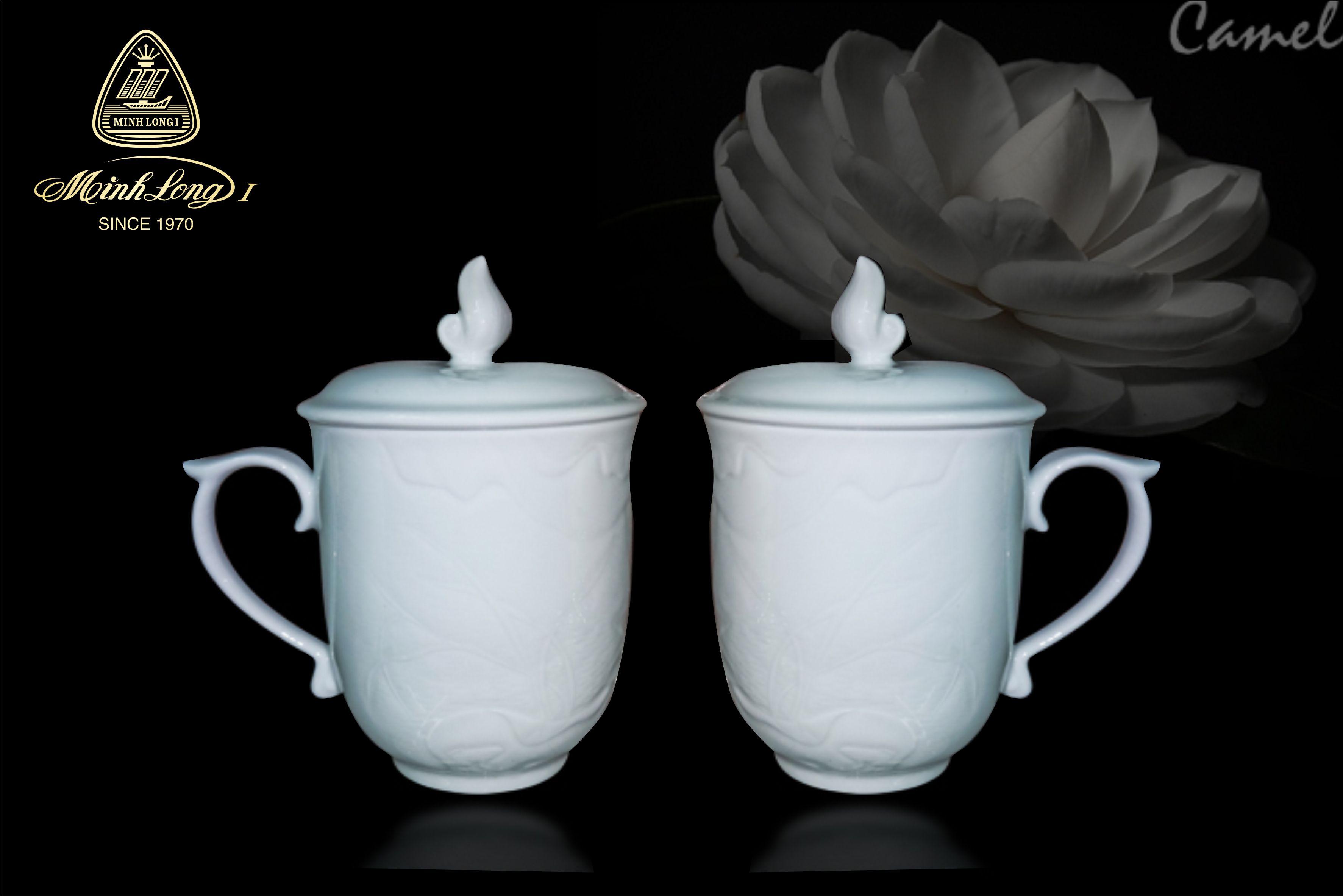 Ca trà 0.30L+ nắp Sen Trắng 153008000 Minh Long