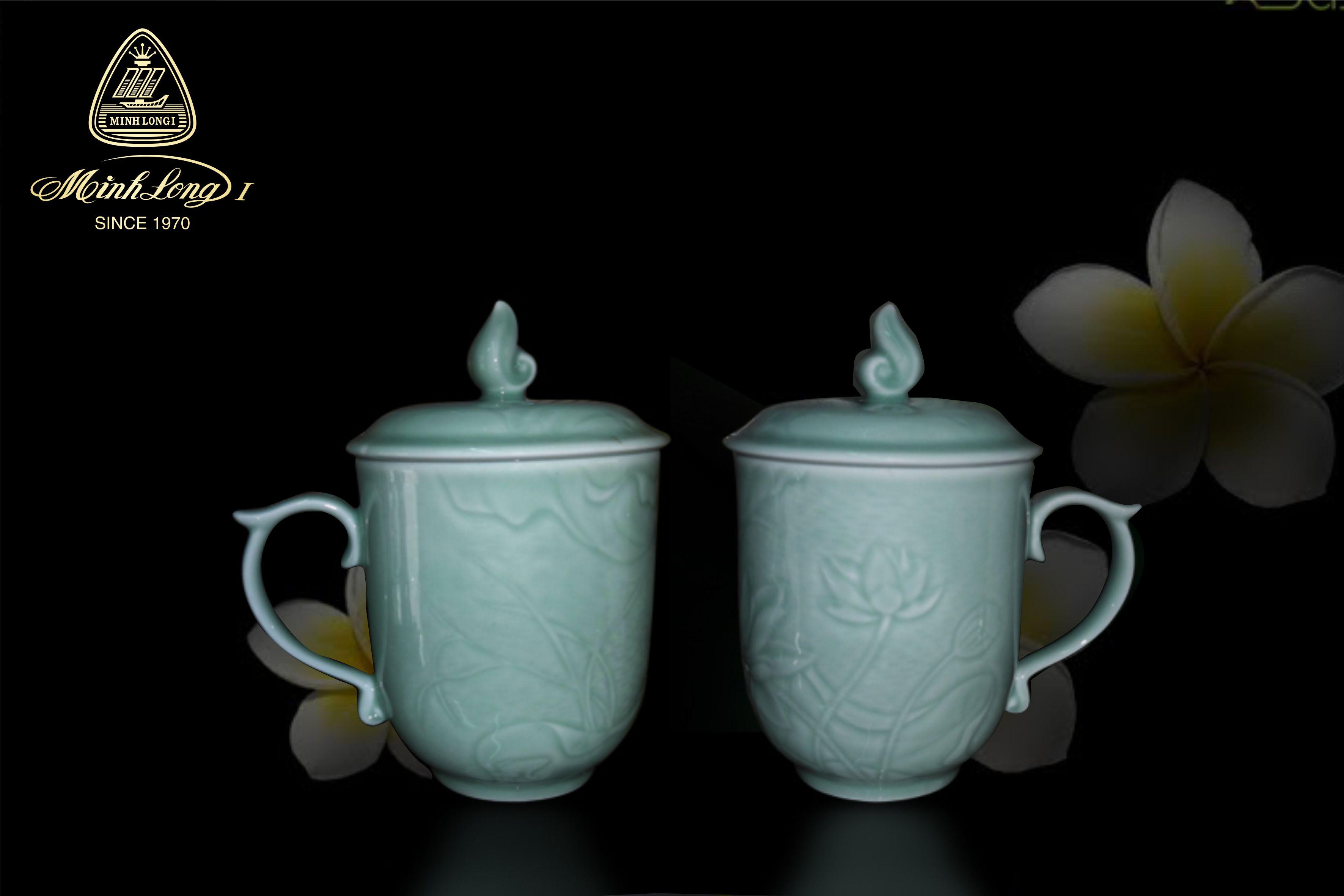 Ca trà 0.30L+ nắp Sen Xanh 153008020 Minh Long