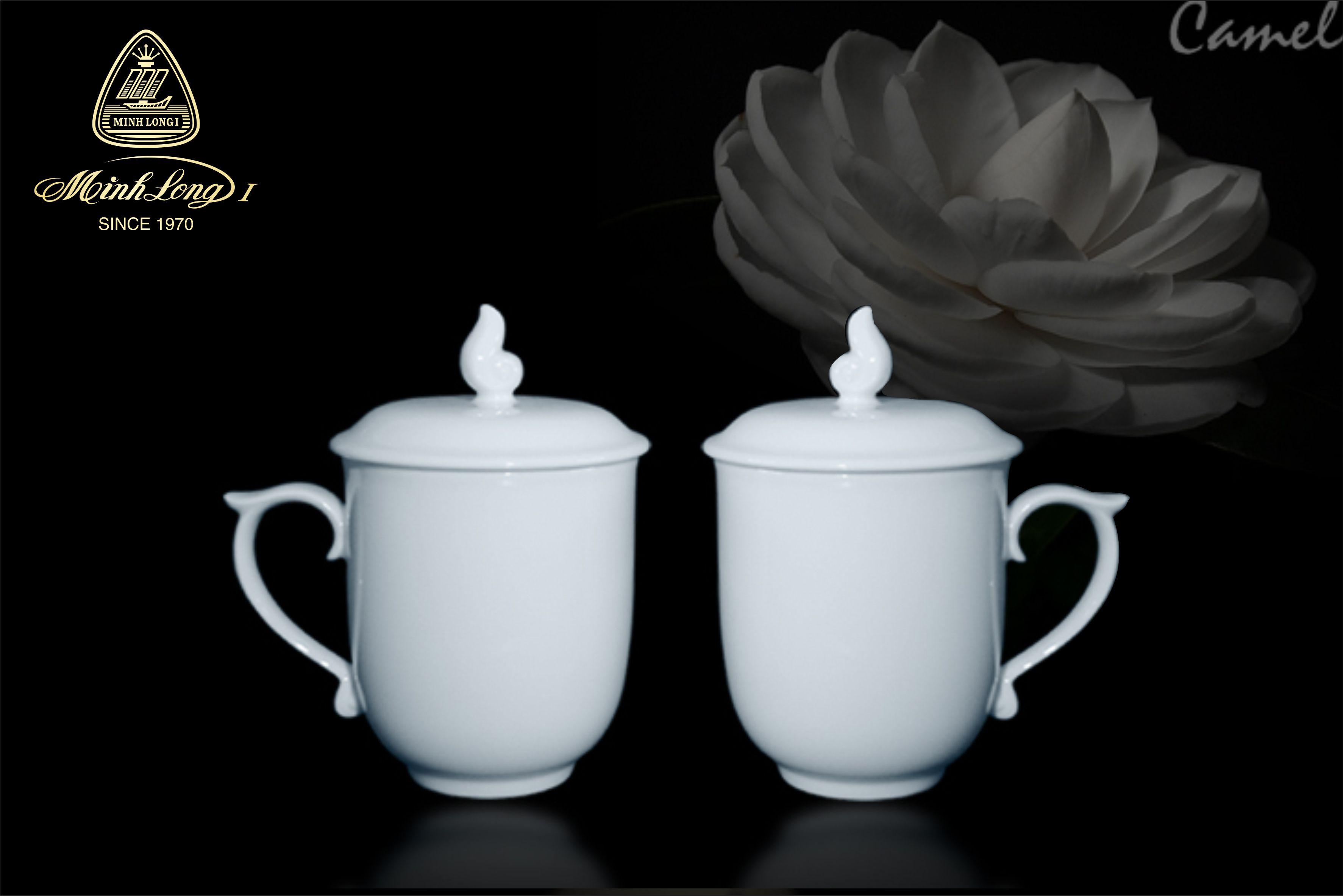 Ca trà 0.30L+ nắp Mẫu Đơn Trắng 153009000 Minh Long