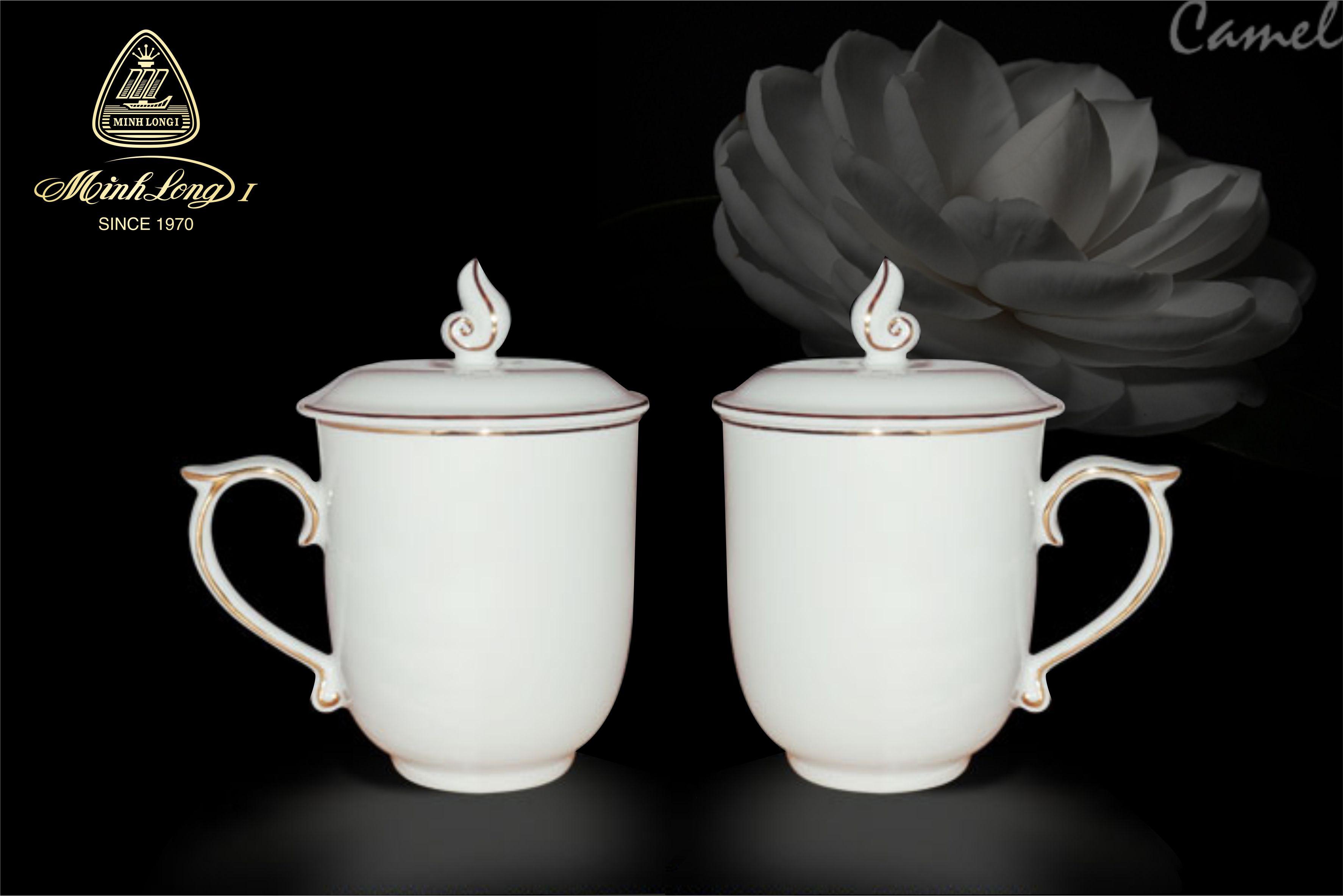 Ca trà 0.30L+ nắp Mẫu Đơn Chỉ Vàng 153009014 Minh Long