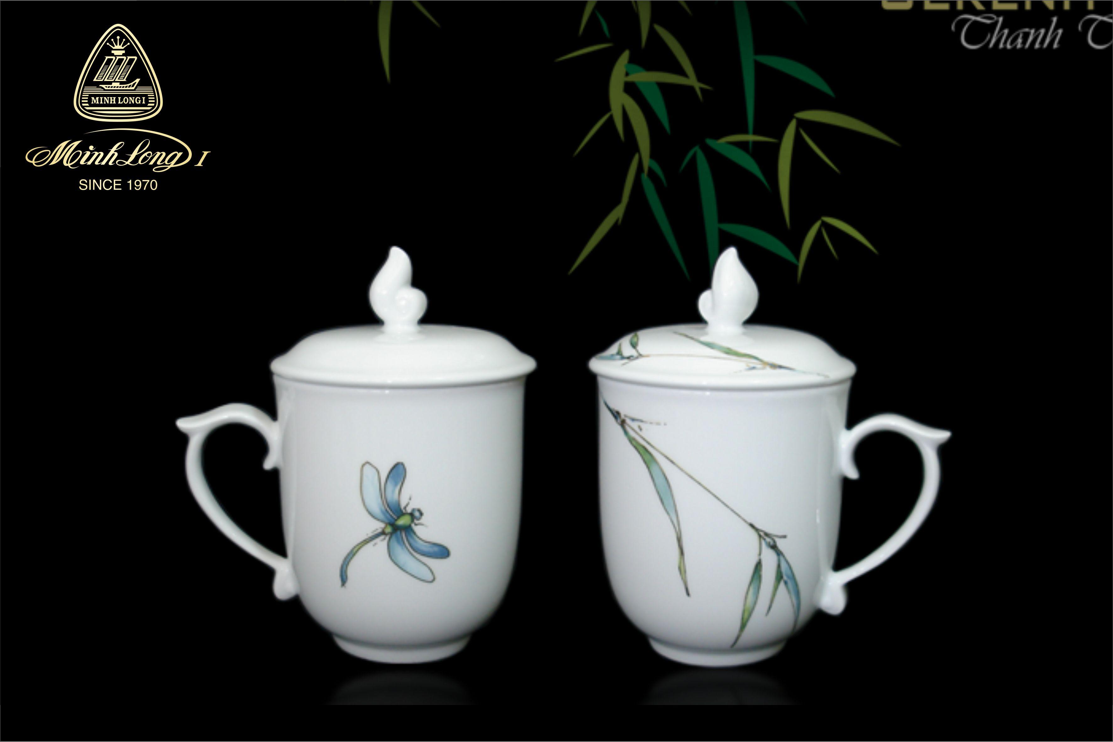 Ca trà 0.30L+ nắp Mẫu đơn Thanh trúc 153009176 Minh Long