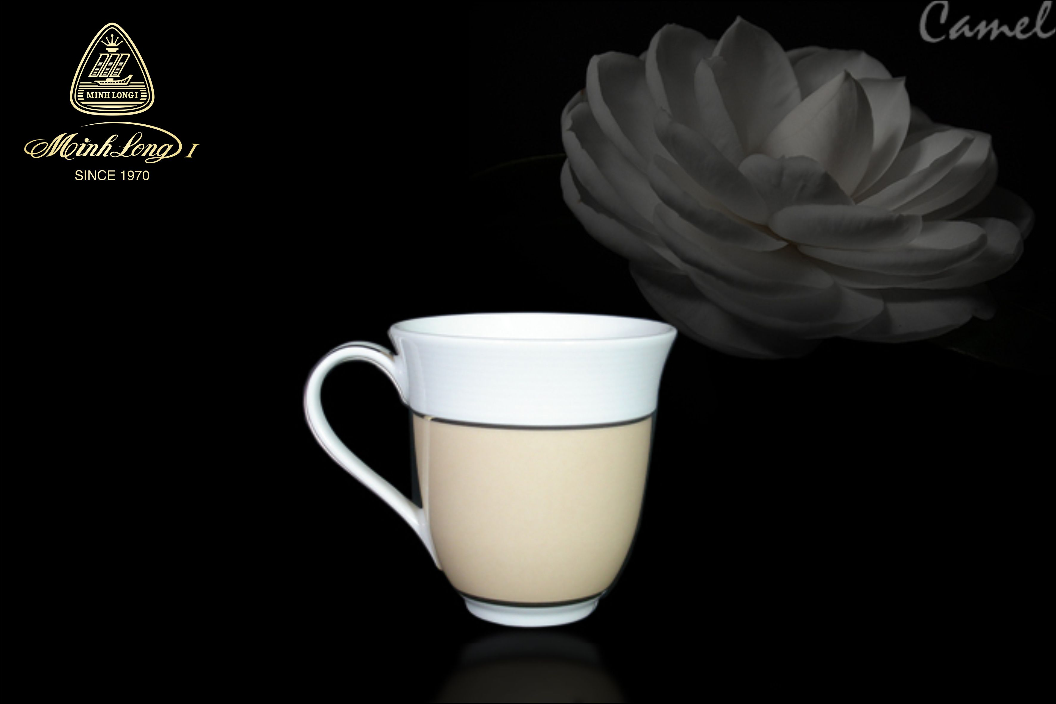 Ca sọc 0.4L Came Màu Cafe Sữa 154040317 Minh Long