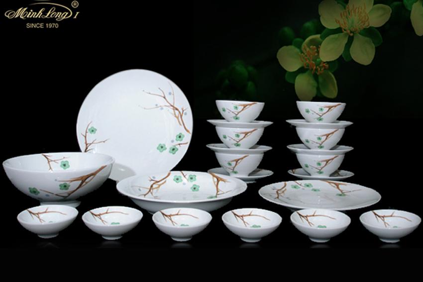 Bộ bàn ăn 22sp Daisy Thanh Mai 22060 Minh Long