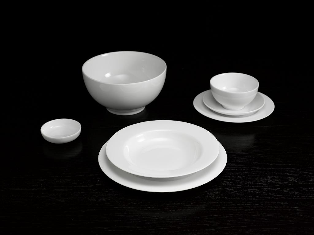 Bộ bàn ăn 6 người 25sp Came Trắng 25CAM Minh Long
