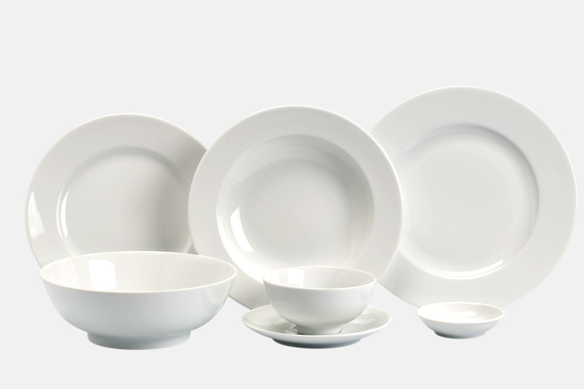 Bộ bàn ăn 6 người 24sp Jas Trắng Minh Long