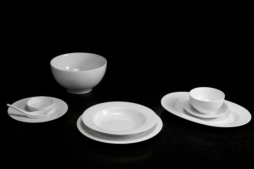 Bộ bàn ăn 6 người Âu - Á 45sp Came Trắng 4506AACAM Minh Long