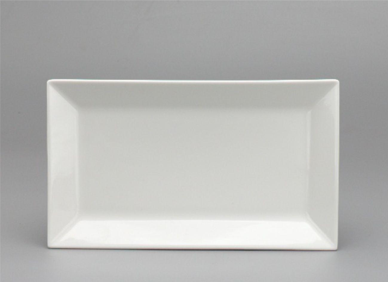 Dĩa chữ nhật lá 33 x 18cm Daisy Lys Trắng Ngà 463304000