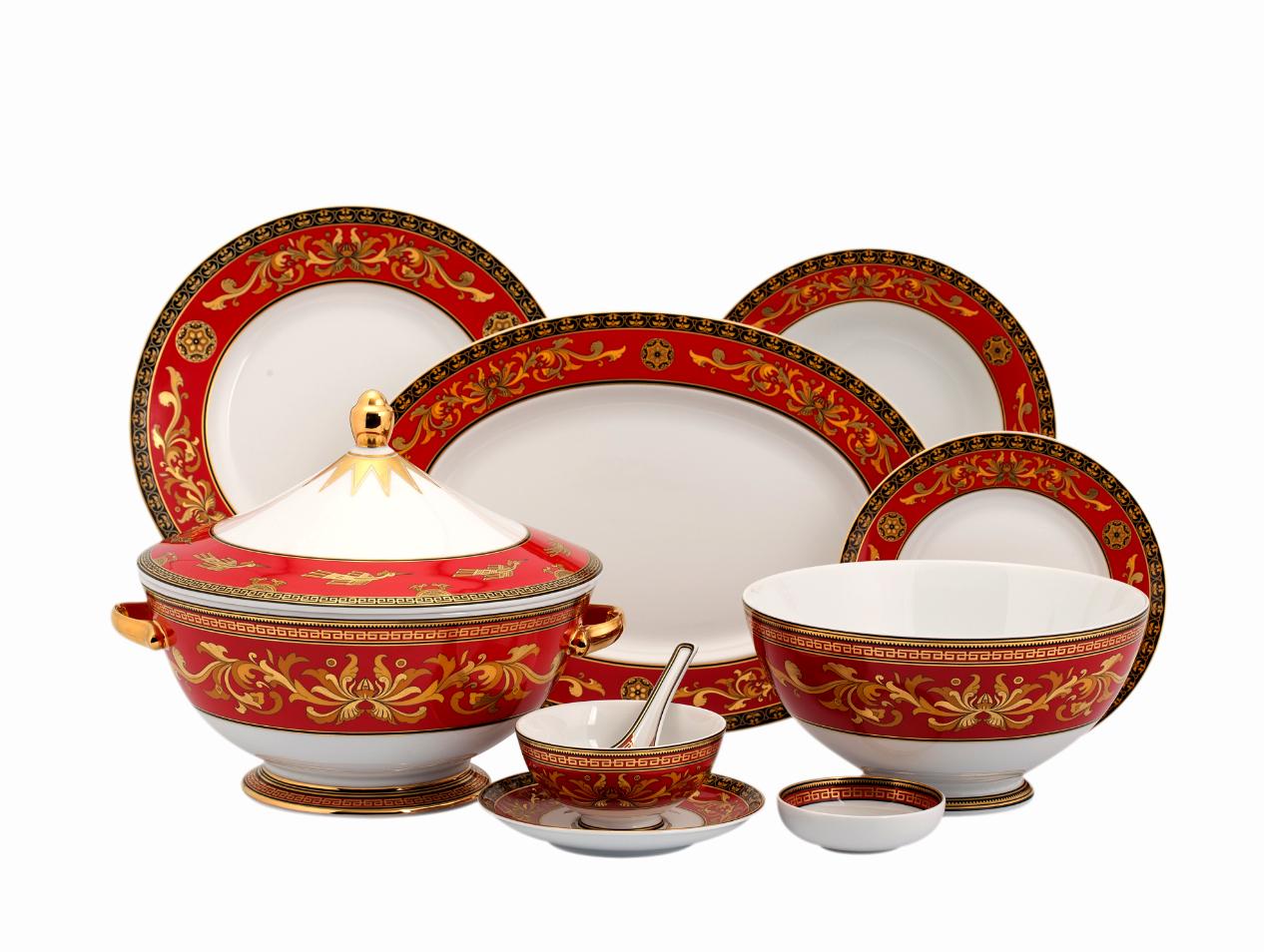 Bộ bàn ăn 30sp Hoàng Cung Quốc sắc 30068 Minh Long
