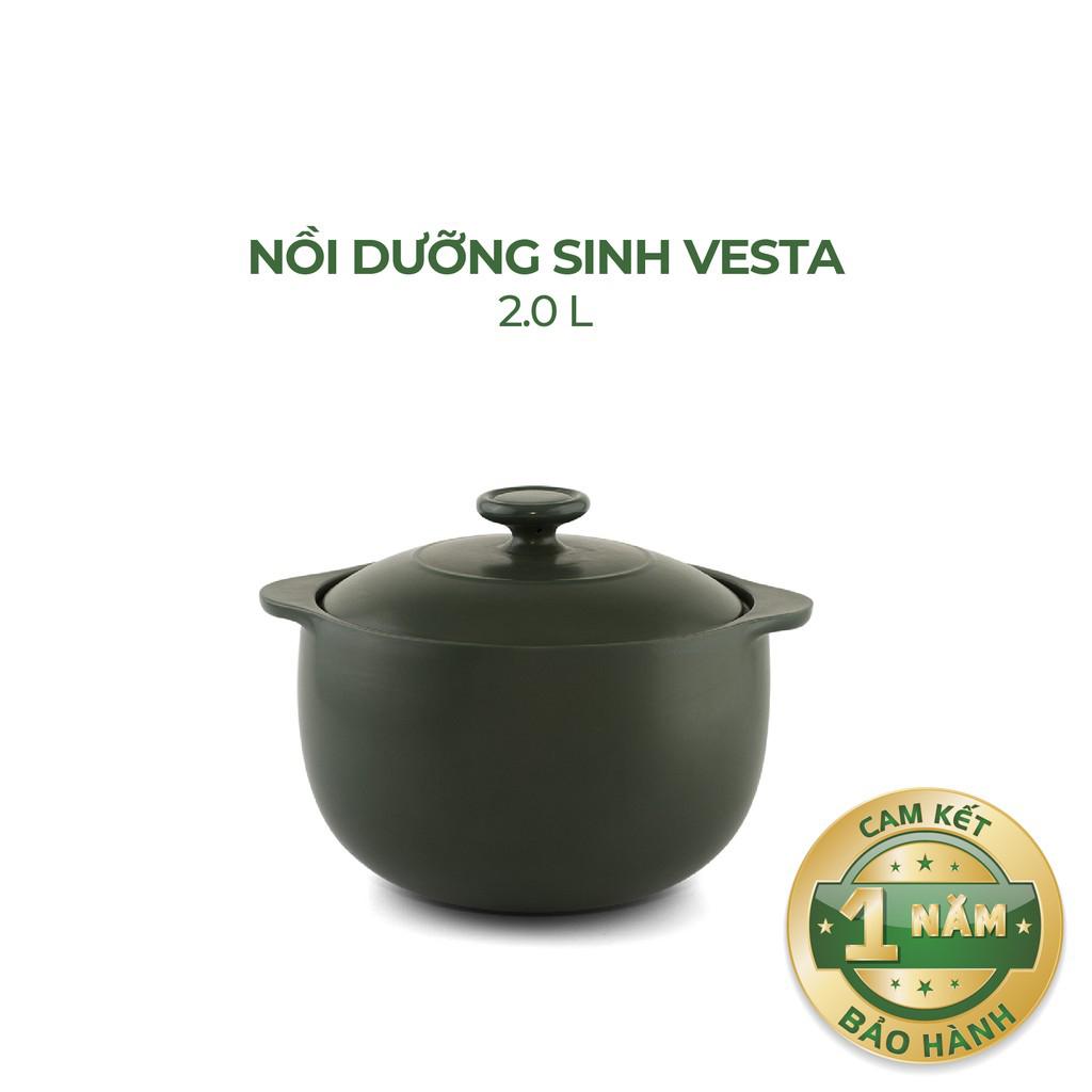 Nồi Sứ Dưỡng Sinh Bếp Ga 2.0 Vesta - Gốm Sứ Minh Long