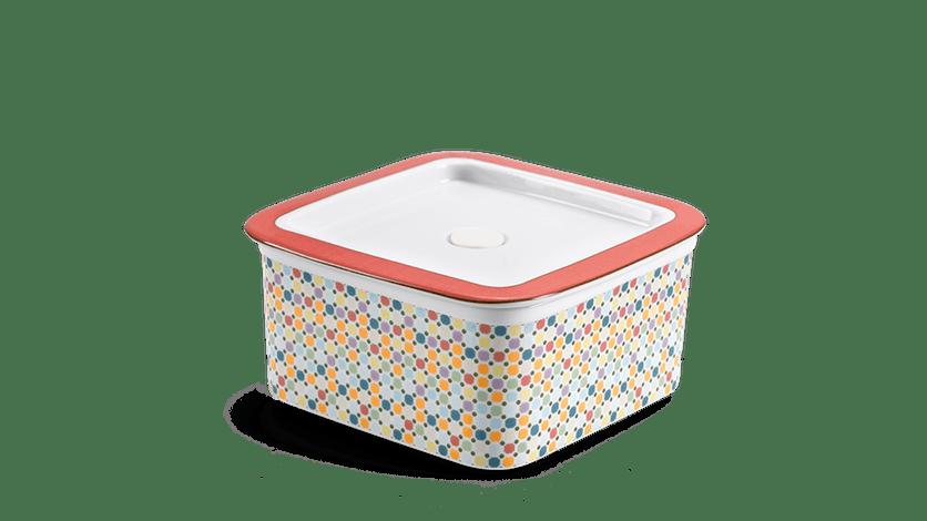 Hộp dưỡng sinh vuông đựng thực phẩm 15 cm + nắp - Mosaic (LTD)