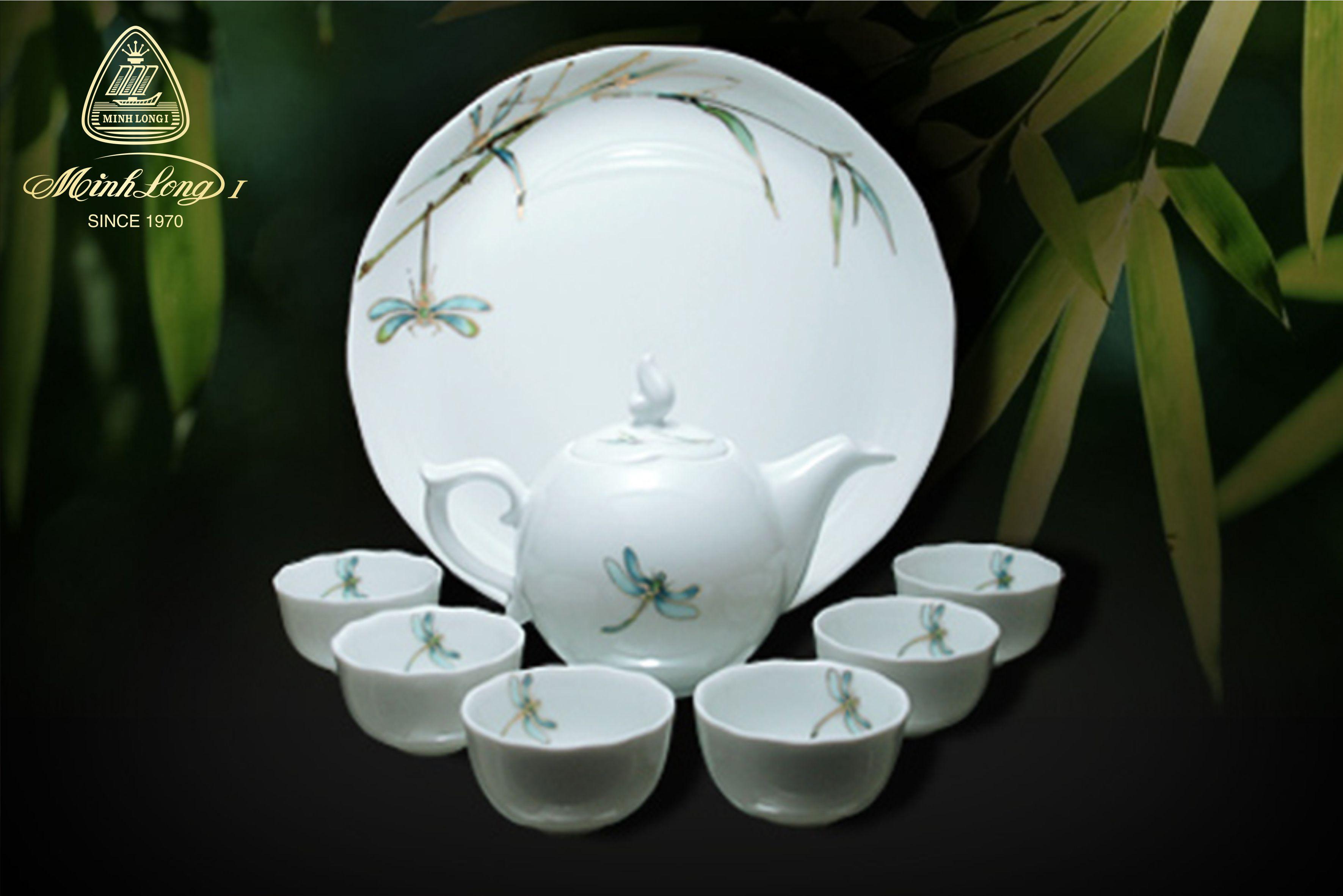Bộ trà 0.3L Mẫu Đơn Thanh Trúc 68300817603 Minh Long