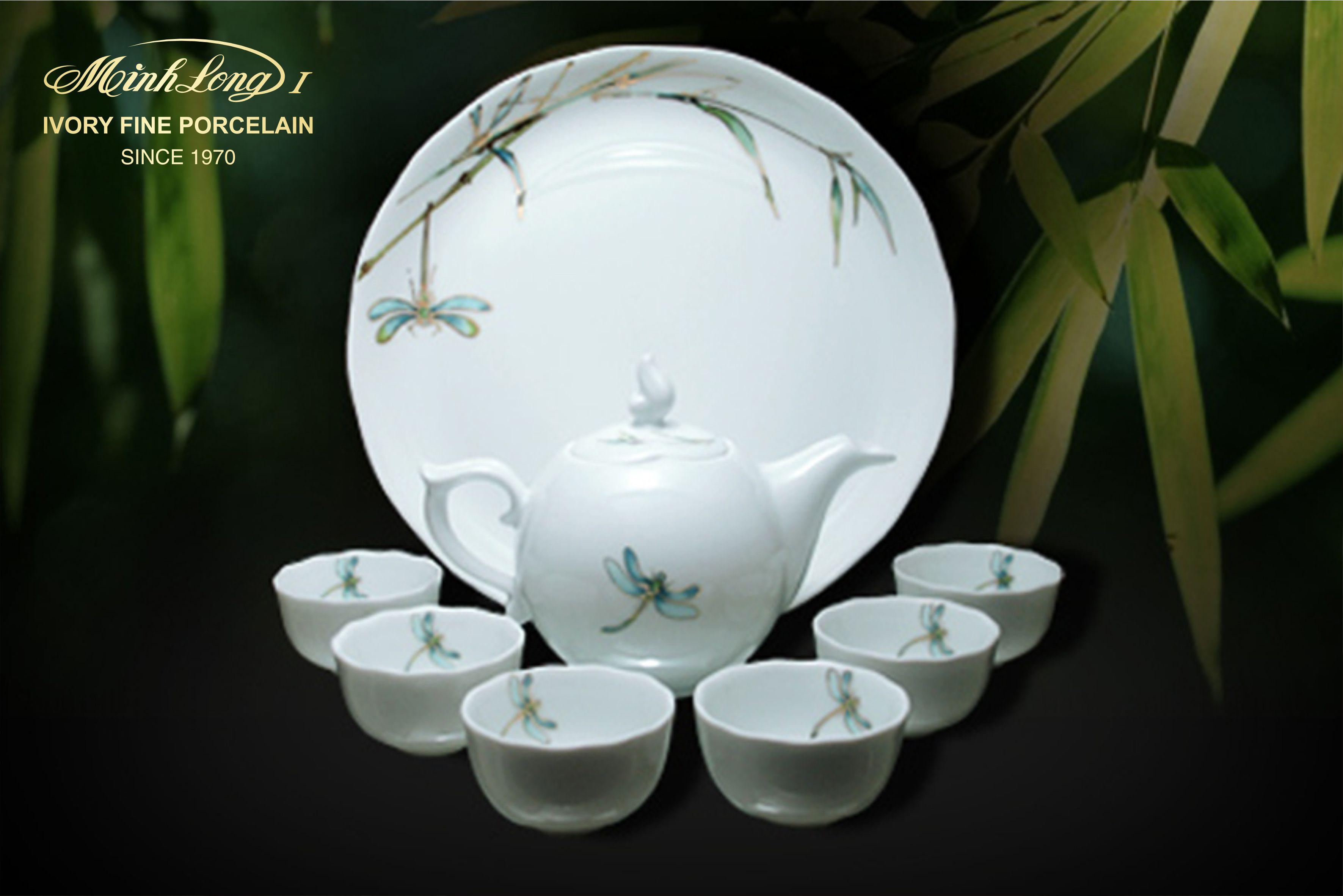 Bộ trà 0.3L Mẫu Đơn IFP Thanh trúc 68301317603 Minh long