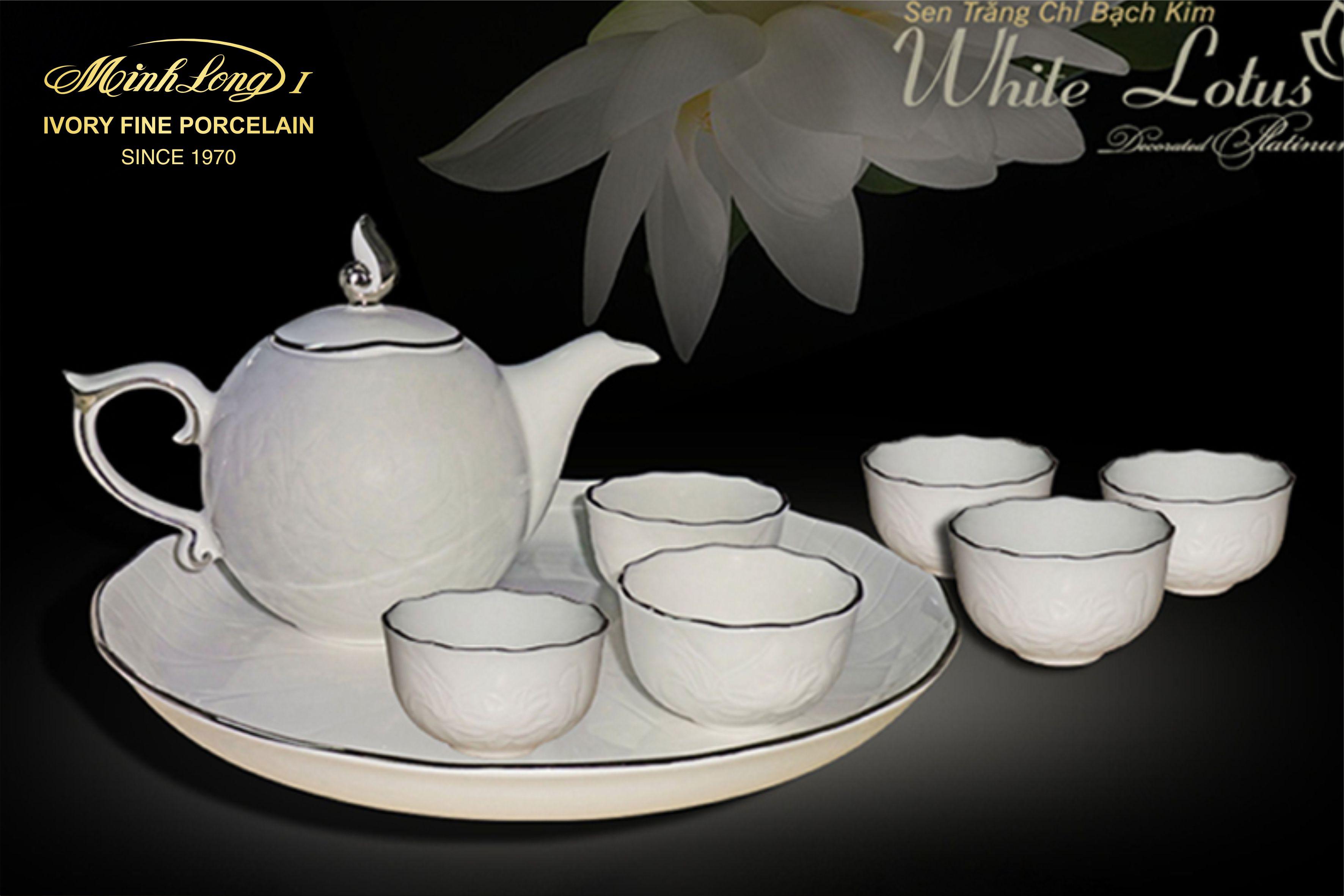 Bộ trà 0.3L SEN IFP Chỉ Bạch Kim 68301404303 Minh Long