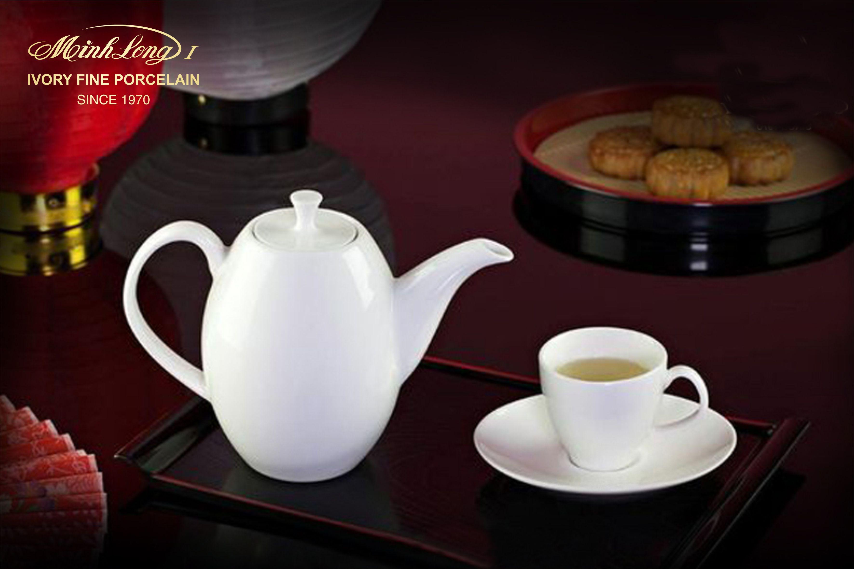 Bộ trà cao 0.47L Anna Trắng Ngà 68470300003 Minh Long