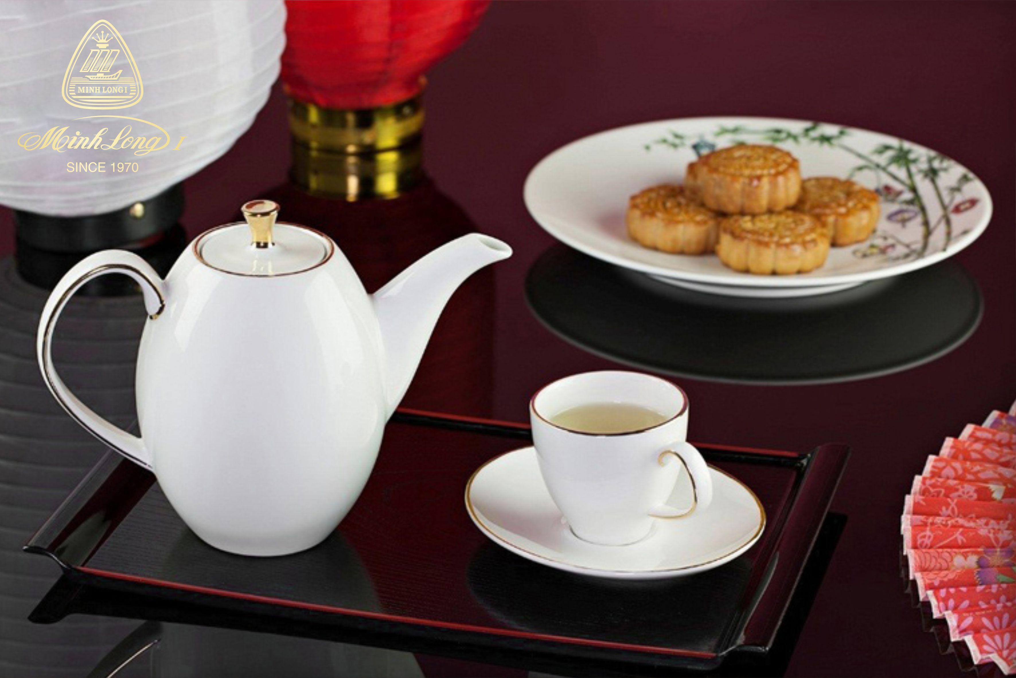 Bộ trà cao 0.47L Anna Chỉ Vàng 68470301403 Minh Long