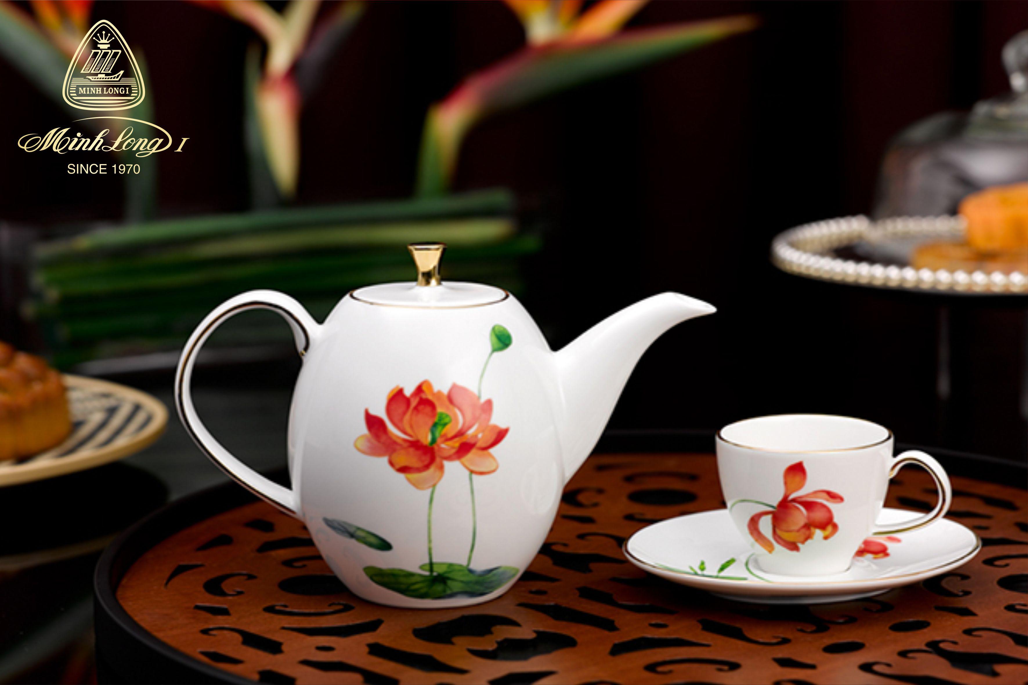 Bộ trà cao 0.47L Anna Hương Sen 68470342103 Minh Long