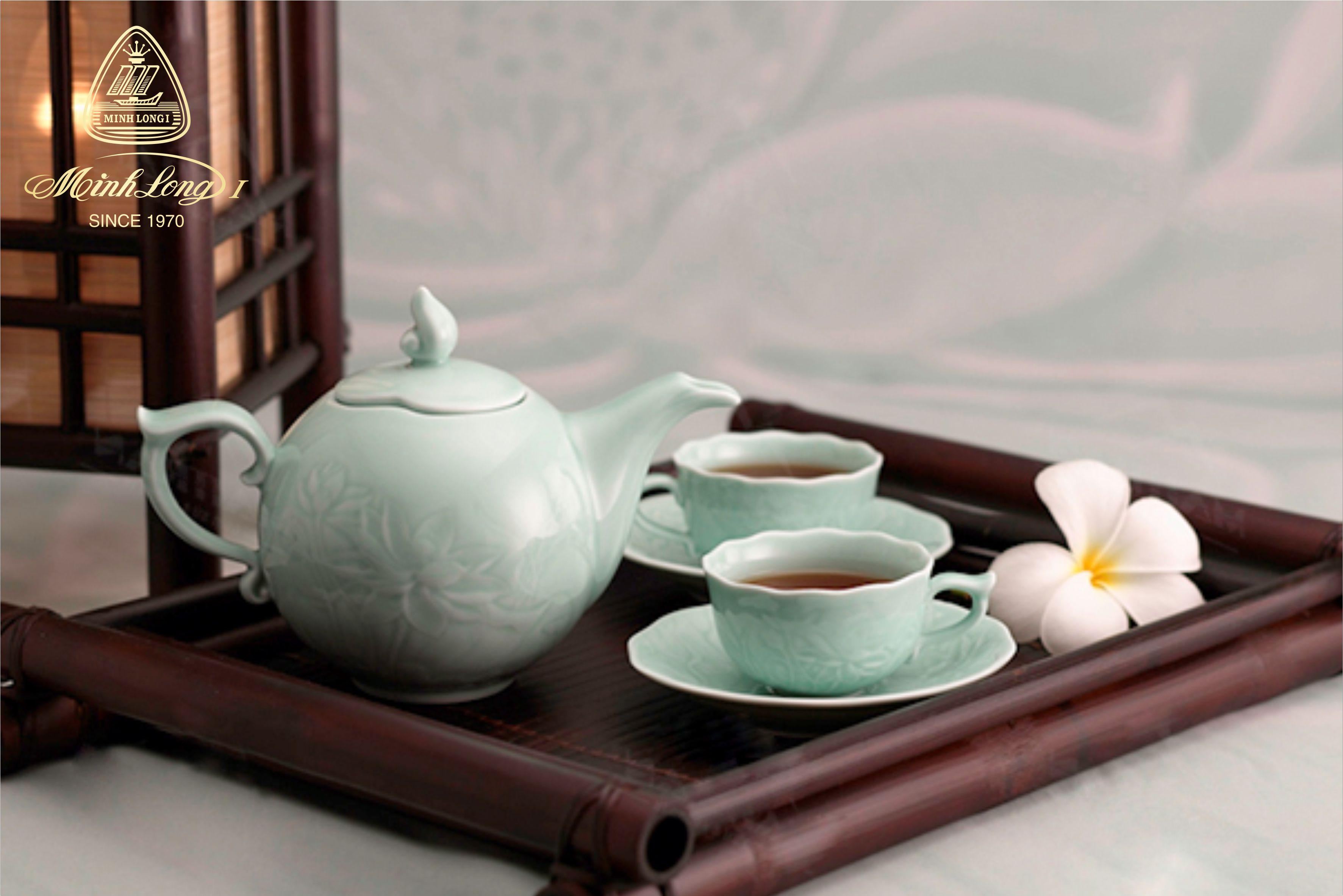 Bộ trà 0.7L Sen Xanh sen 68700902003 Minh Long