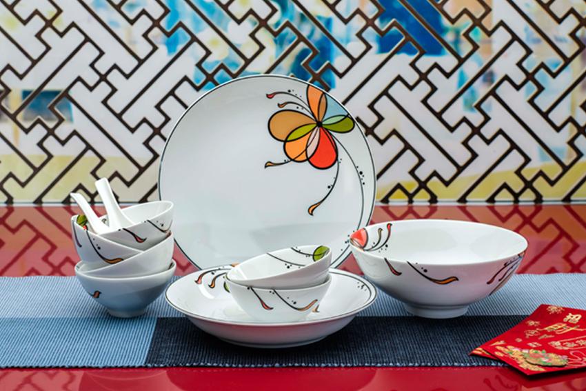 Bộ bàn ăn 09sp Daisy Bóng Bay 09312 Minh Long