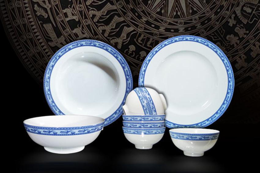 Bộ bàn ăn 09sp Jas Chim Lạc 09001 Minh Long