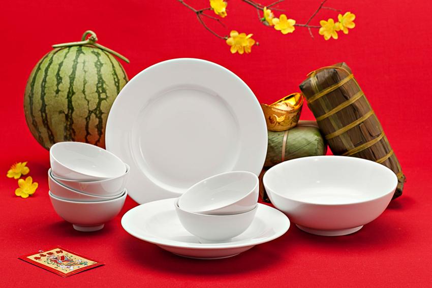 Bộ bàn ăn 09sp Jas IFP Trắng Ngà 470928000 Minh Long