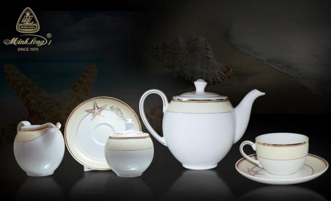 Bộ trà 1.1L Came Hương Biển Kem 01113808903 Minh Long