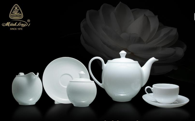 Bộ trà 1.1L Came Trắng 01113800003 Minh Long