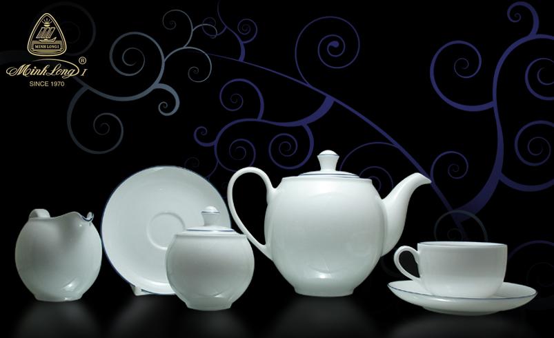 Bộ trà 1.1L Came Chỉ Xanh Dương 01113802103 Minh Long
