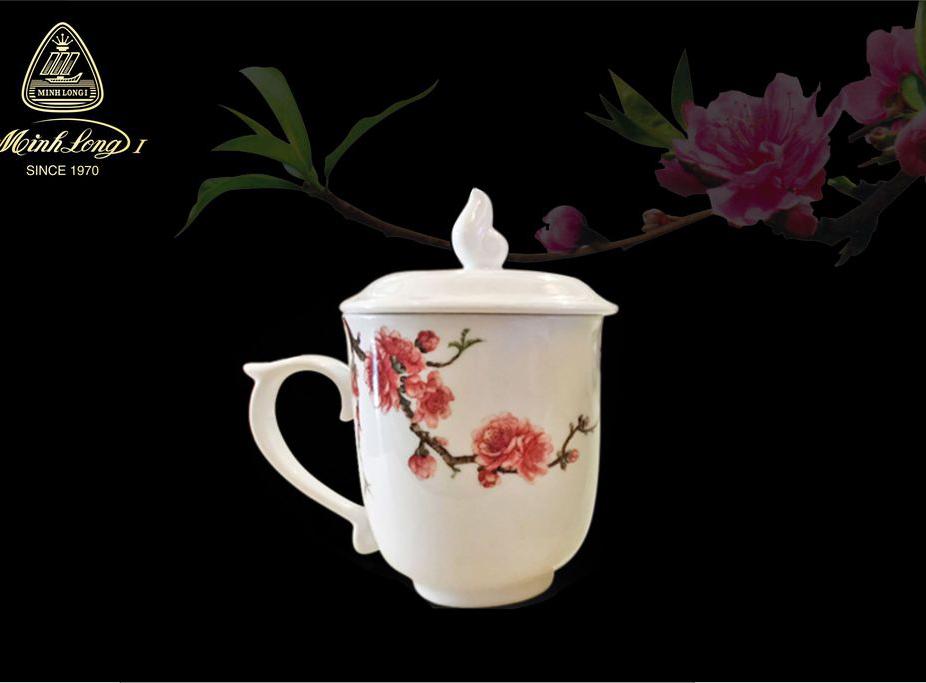 Ca trà 0.30L có nắp Mẫu Đơn Đào &LC3 153009416MD Minh Long