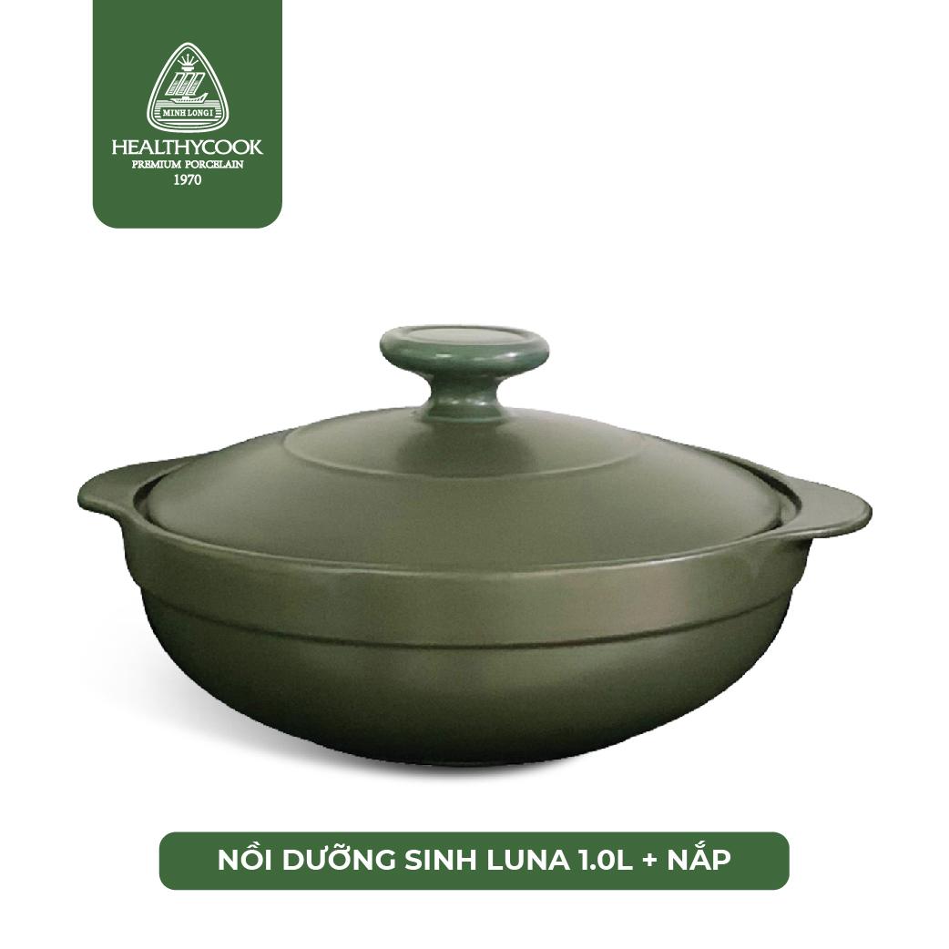 Nồi Sứ Dưỡng Sinh Bếp Ga Luna 1L - Gốm Sứ Minh Long