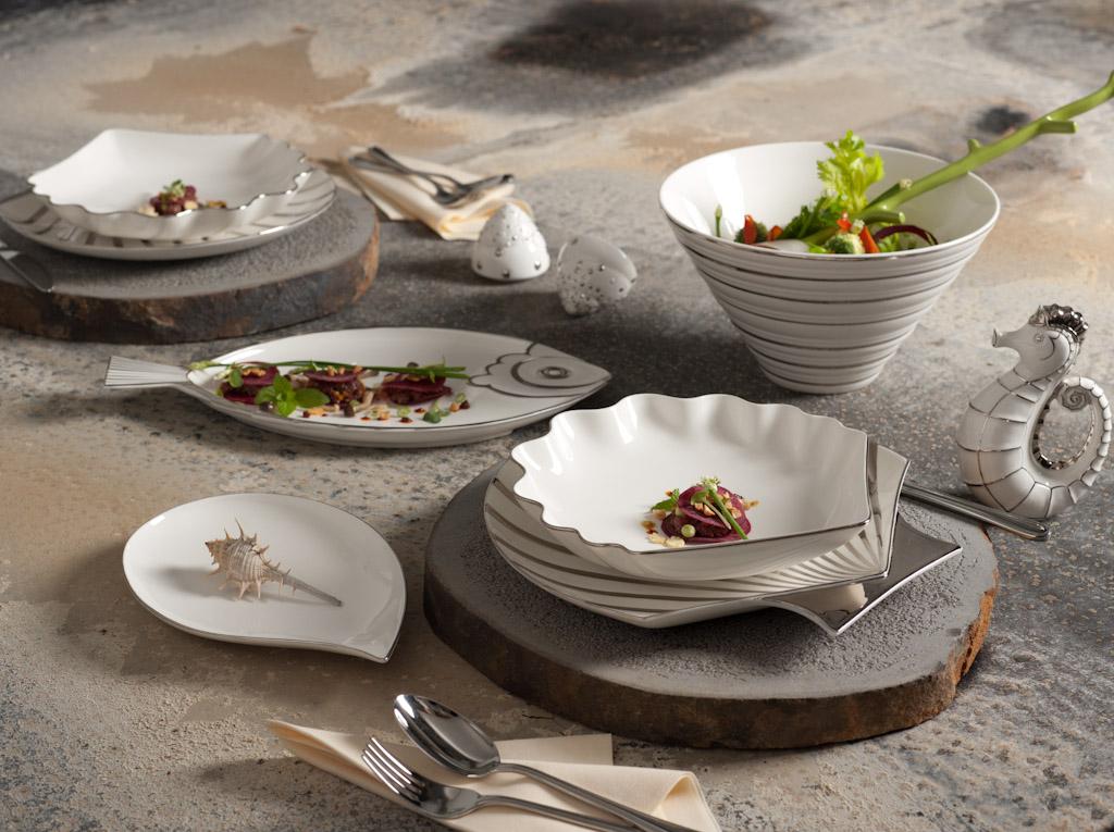 Bộ bàn ăn 28sp Ngọc Biển 28043NBA Minh Long